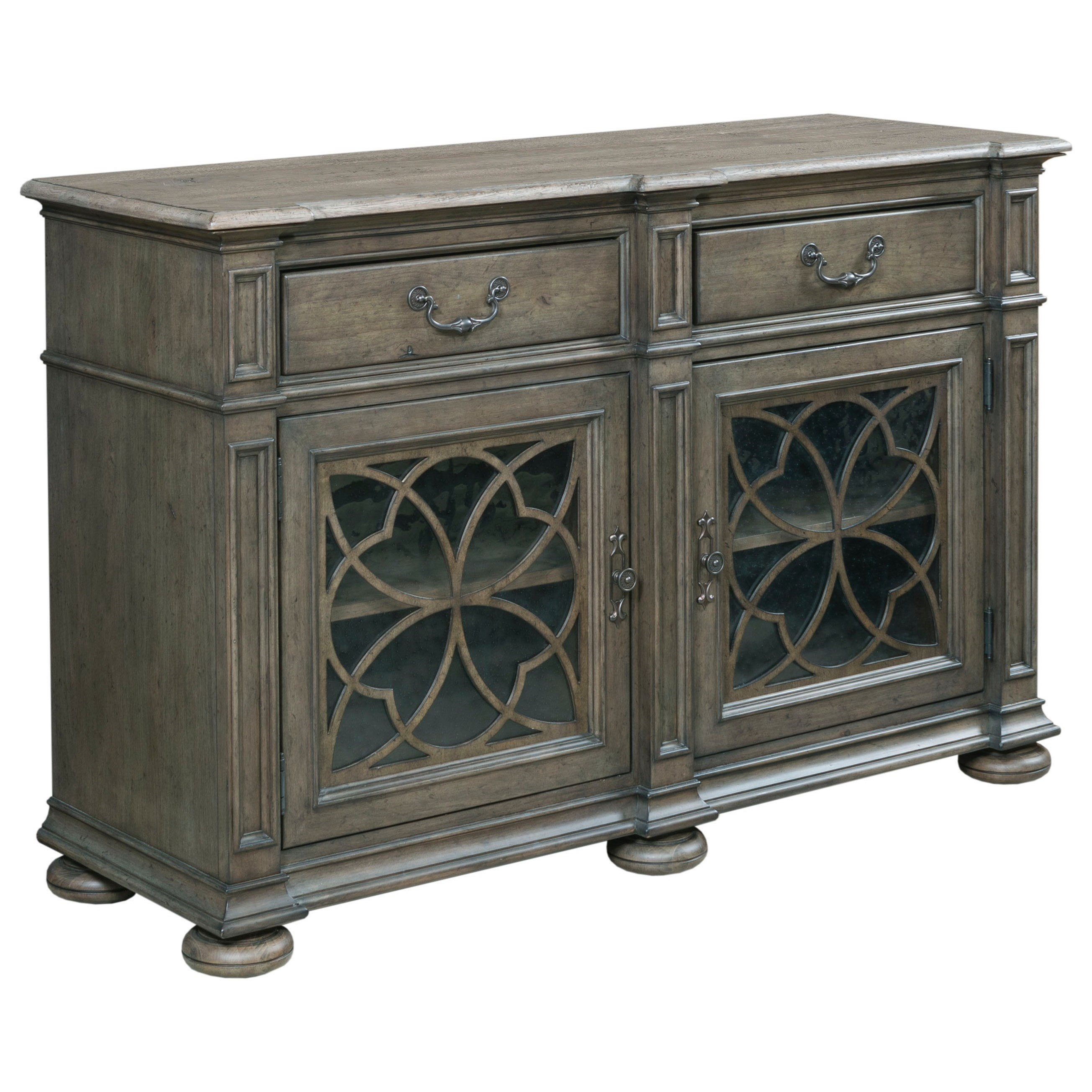 Kincaid Furniture Greyson Harper Two Door Buffet With Within Wooden Curio Buffets With Two Glass Doors (Photo 25 of 30)