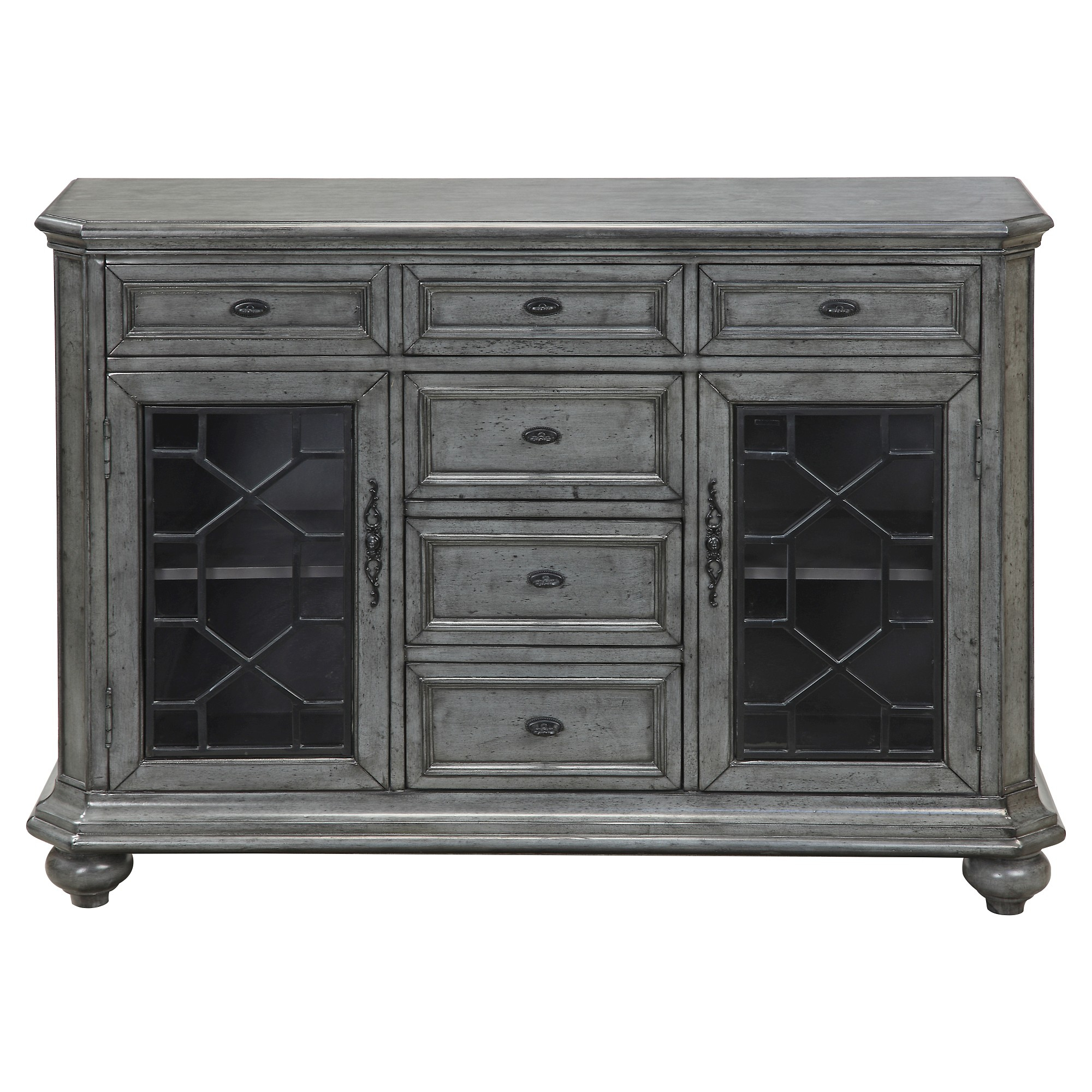 Kino Traditional Storage Cabinet – Grey – Christopher Knight Within Raquette Sideboards (Gallery 21 of 30)