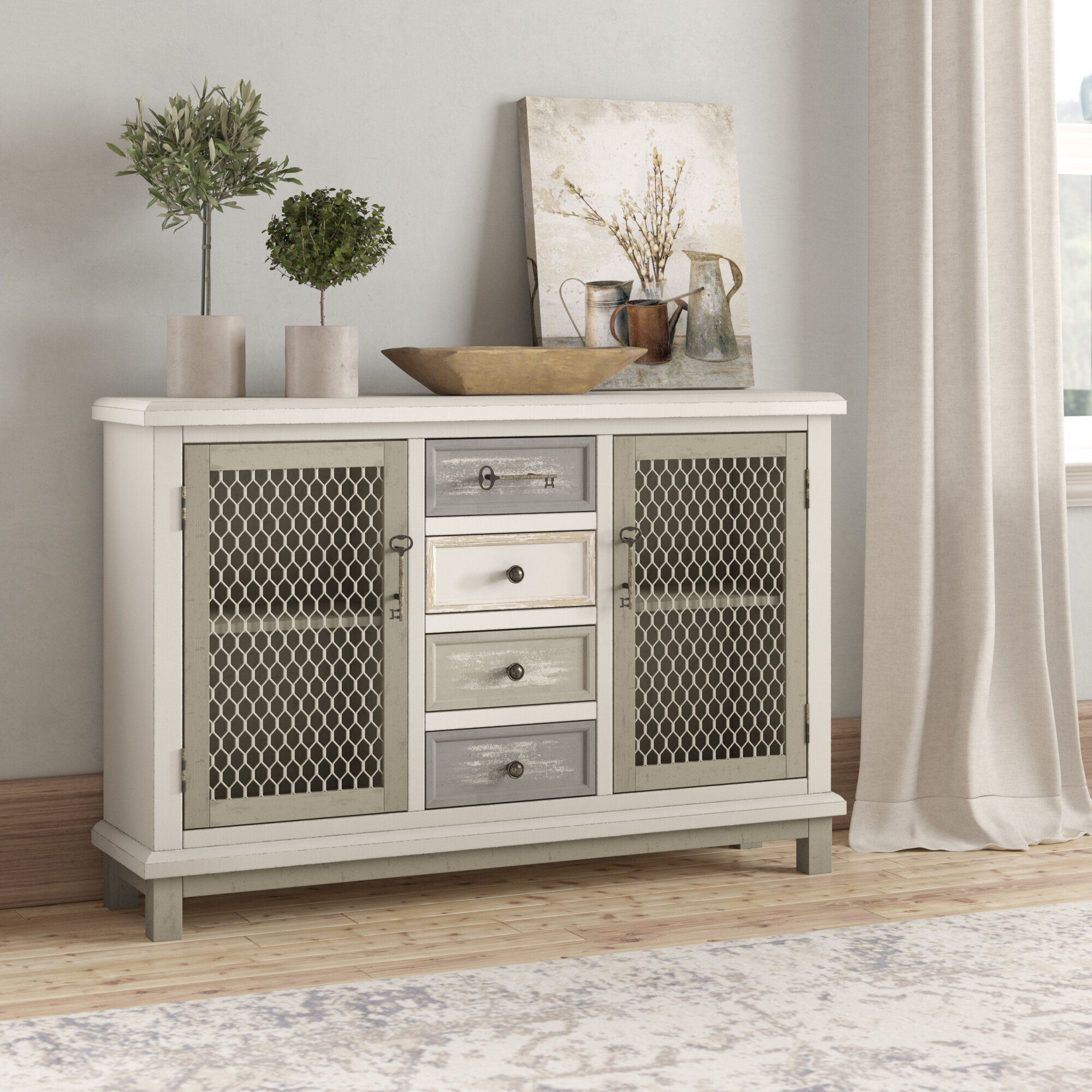 Kobe 2 Door Sideboard | Wayfair regarding Line Geo Credenzas (Image 19 of 30)