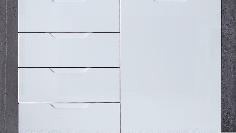 Kommode 1 Sienna Sideboard Anrichte In Weiß Hochglanz Regarding Sienna Sideboards (View 2 of 30)