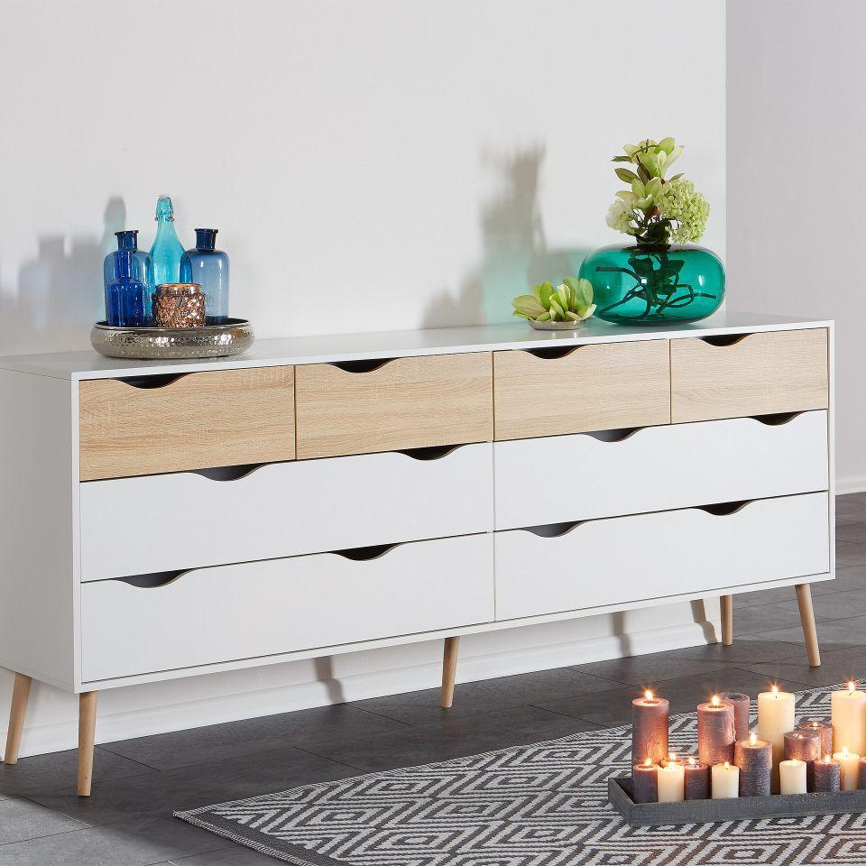 Kommode Oslo (4+4) | Möbel In 2019 | Kommode, Wohn Möbel Und In Dowler 2 Drawer Sideboards (Photo 26 of 30)