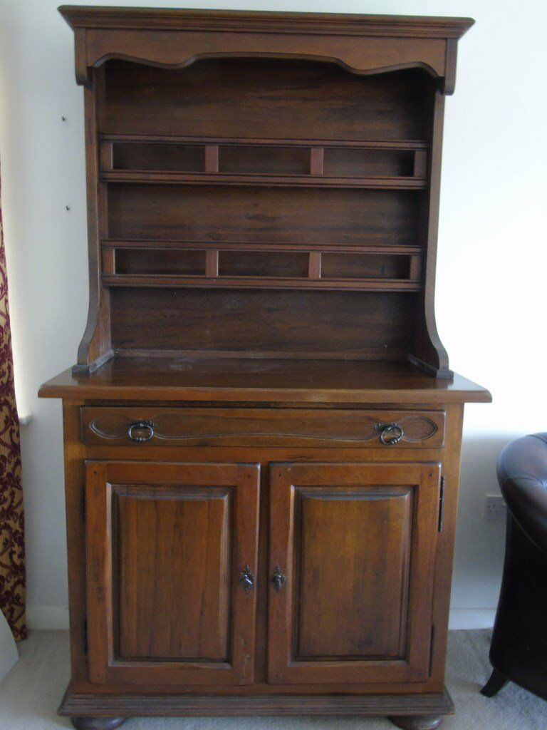 Large Vintage French Artisan Made Medium Oak Farmhouse Buffet/dresser | In Corfe Mullen, Dorset | Gumtree With Regard To Medium Buffets With Wood Top (View 16 of 30)