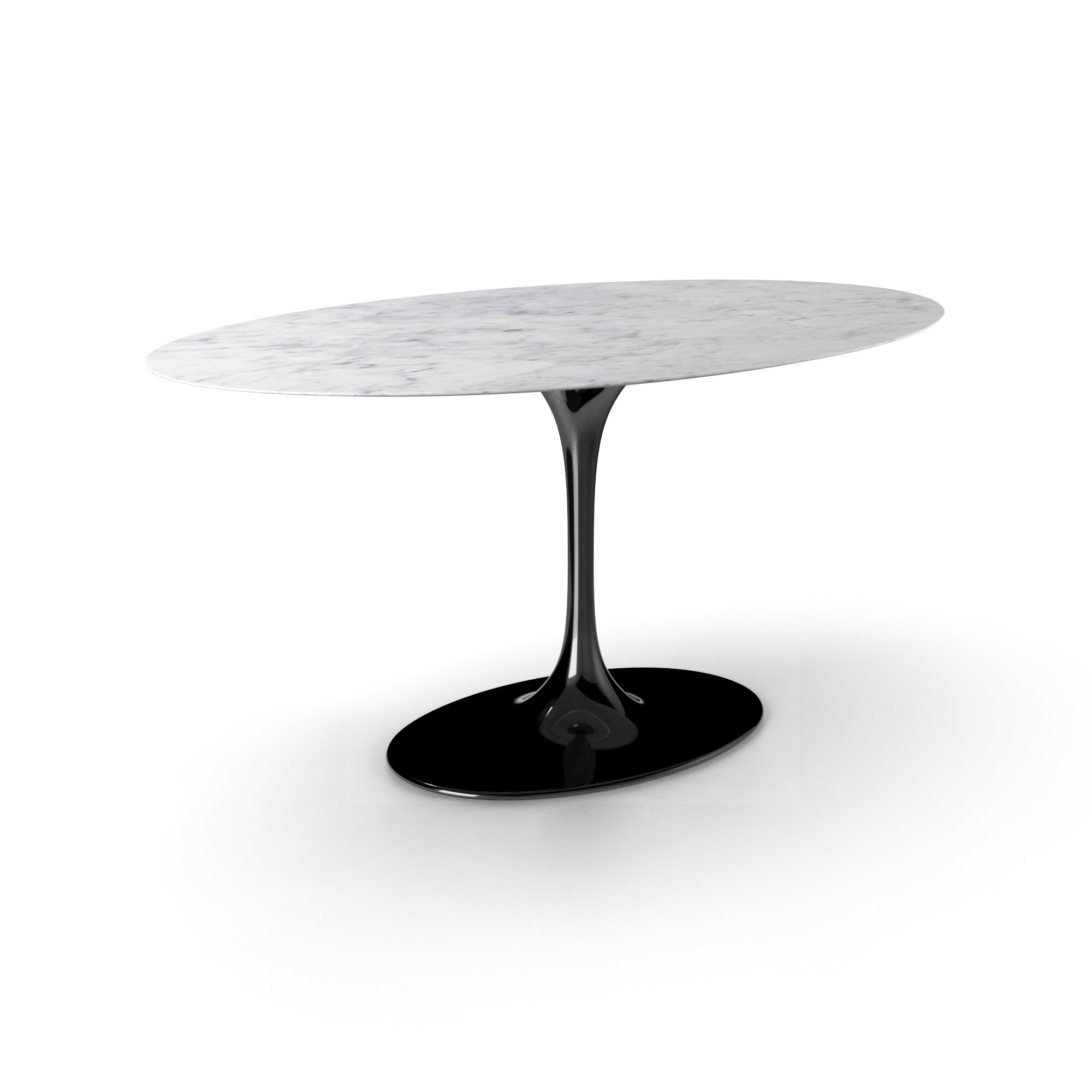 Larkson Carrera Marble Oval Dining Table With Carrera Contemporary Black Dining Buffets (View 23 of 30)