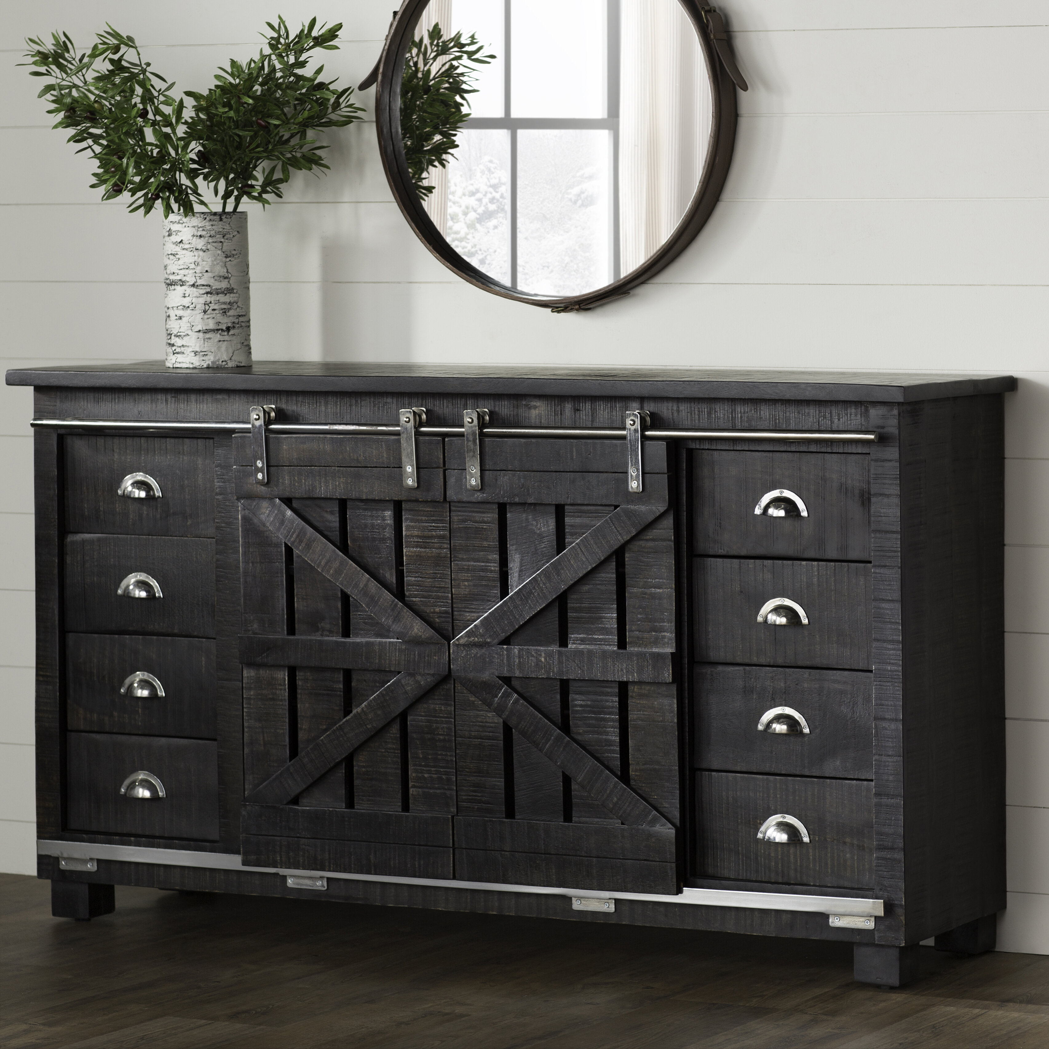 Laurel Foundry Modern Farmhouse Daub Credenza intended for Candide Wood Credenzas (Image 20 of 30)