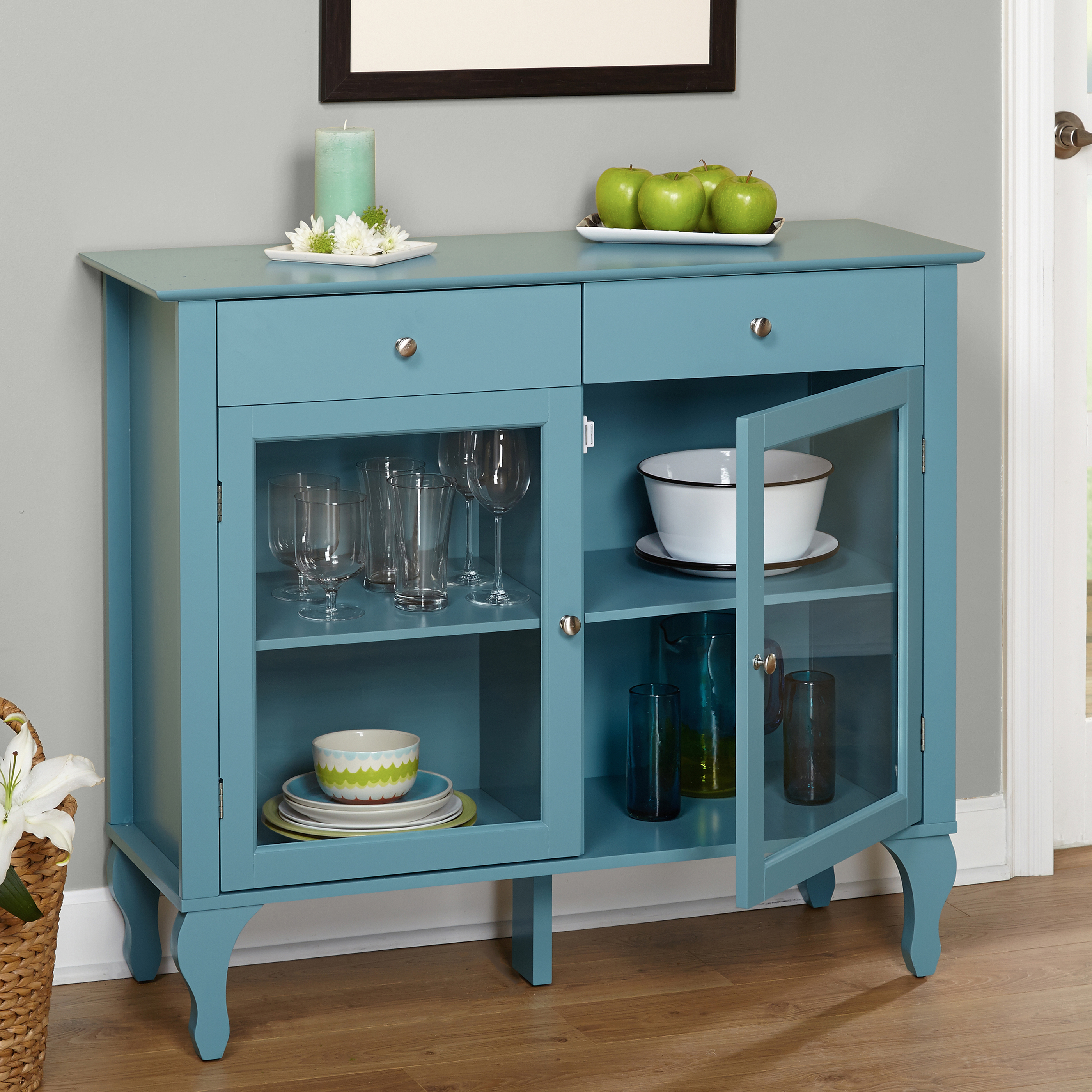 Layla 2 Drawer Buffet, Multiple Colors Inside Simple Living Layla Black Buffets (View 11 of 30)