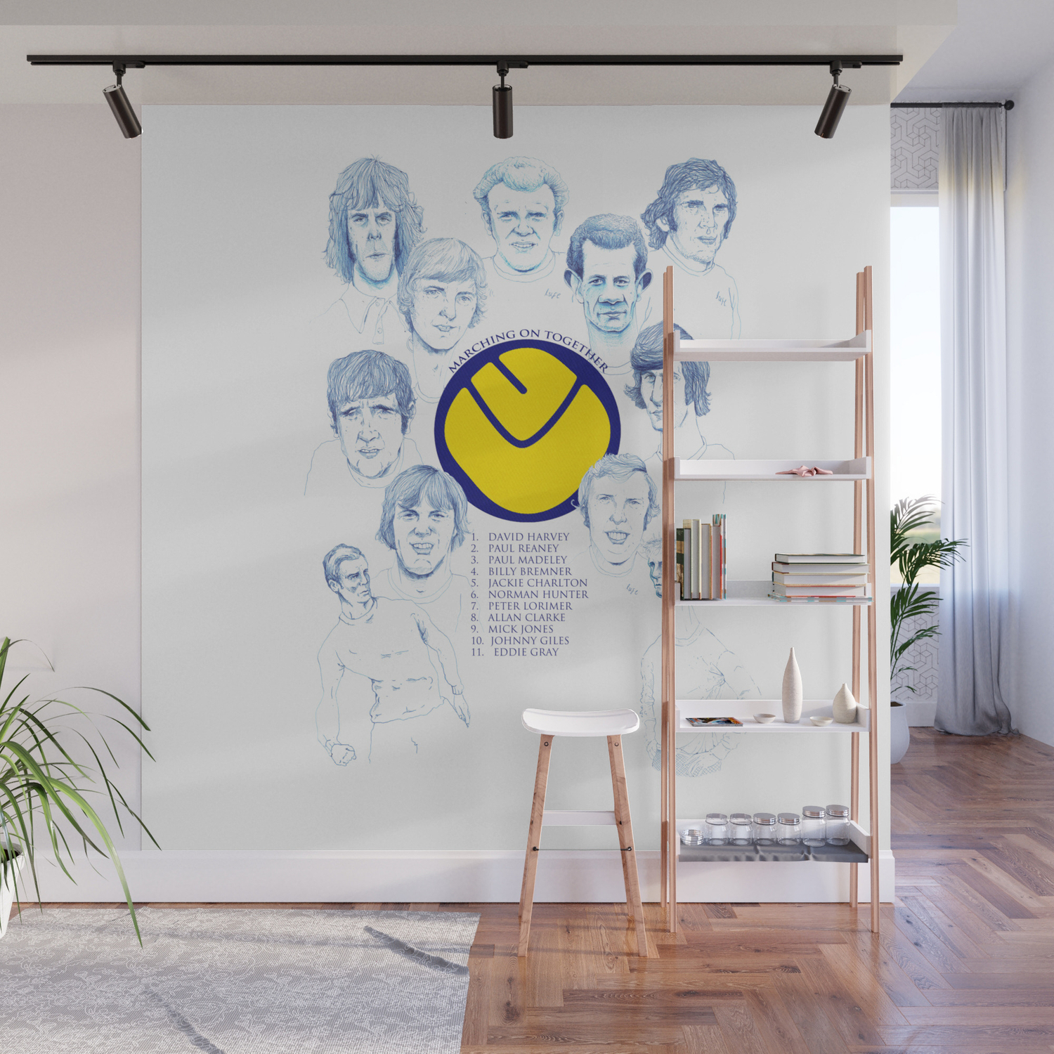 Leeds United 1972 Wall Mural Intended For Bremner Credenzas (View 23 of 30)