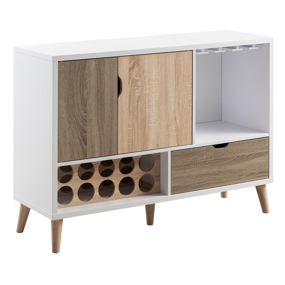 Lelor Multi Colored Buffet Intended For Contemporary Espresso 2 Cabinet Dining Buffets (View 16 of 30)