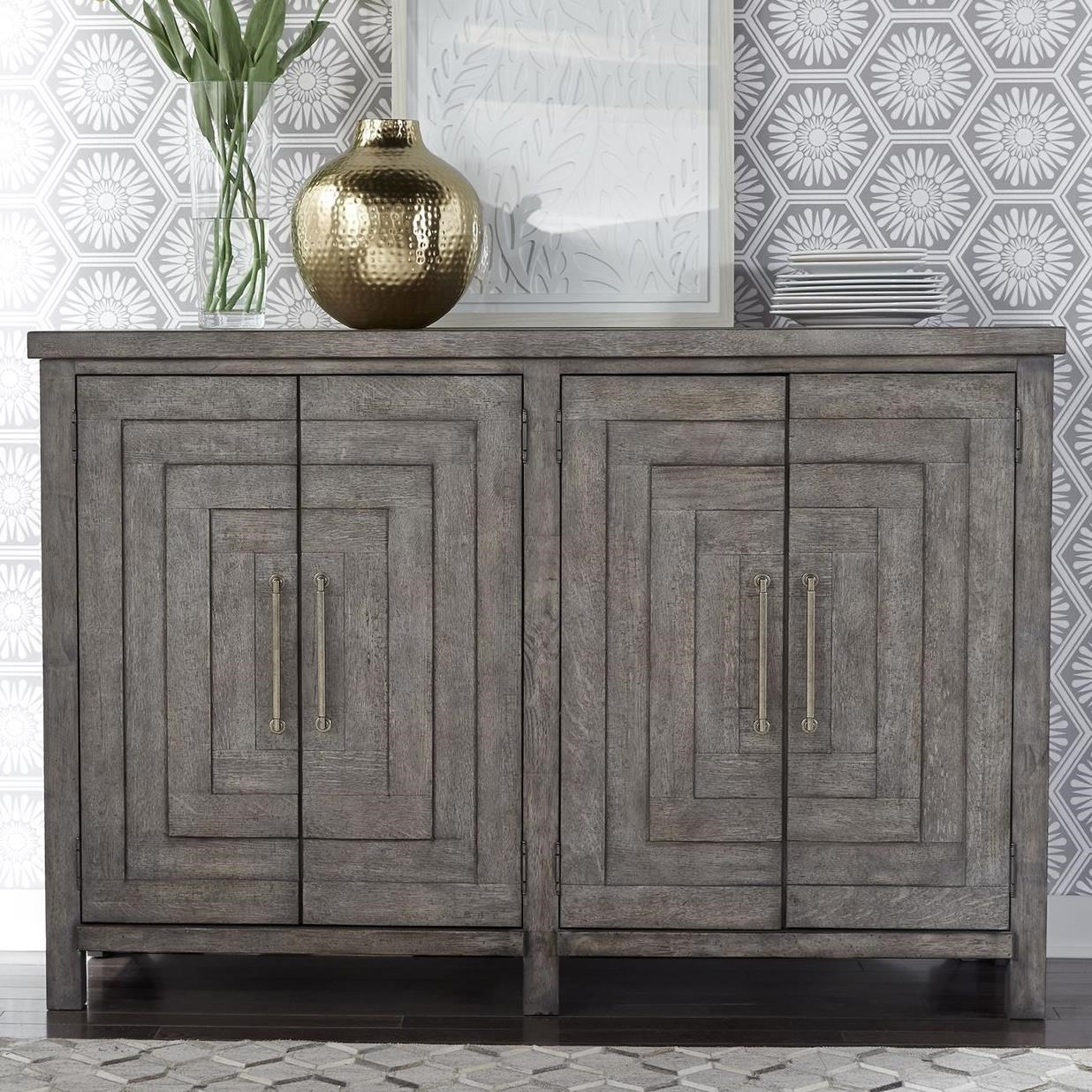 Liberty Furniture Modern Farmhouse 406 Cb6443 Contemporary 4 Throughout Contemporary Buffets (View 20 of 30)