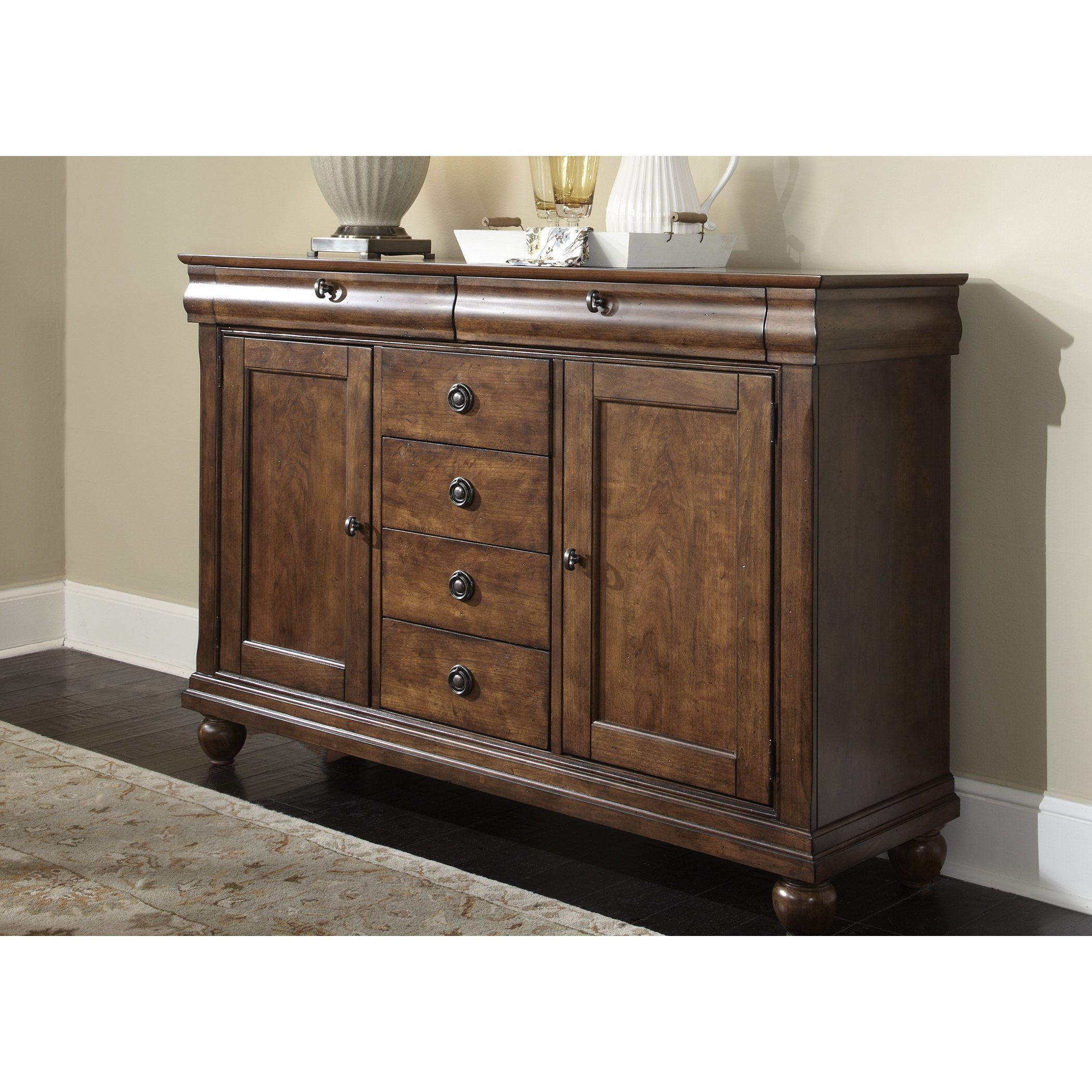 Liberty Rustic Tradition Cherry Server, Brown | Products With Regard To Chalus Sideboards (View 18 of 30)