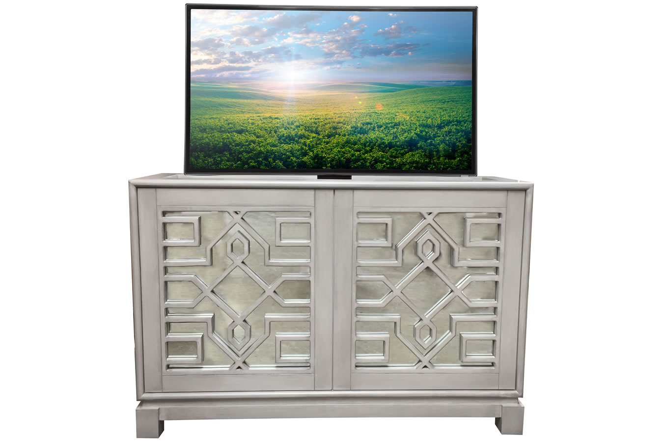 Lili Mirrored Buffet - Cabinet-Tronix throughout 3-Piece Mirrored Buffets (Image 12 of 30)