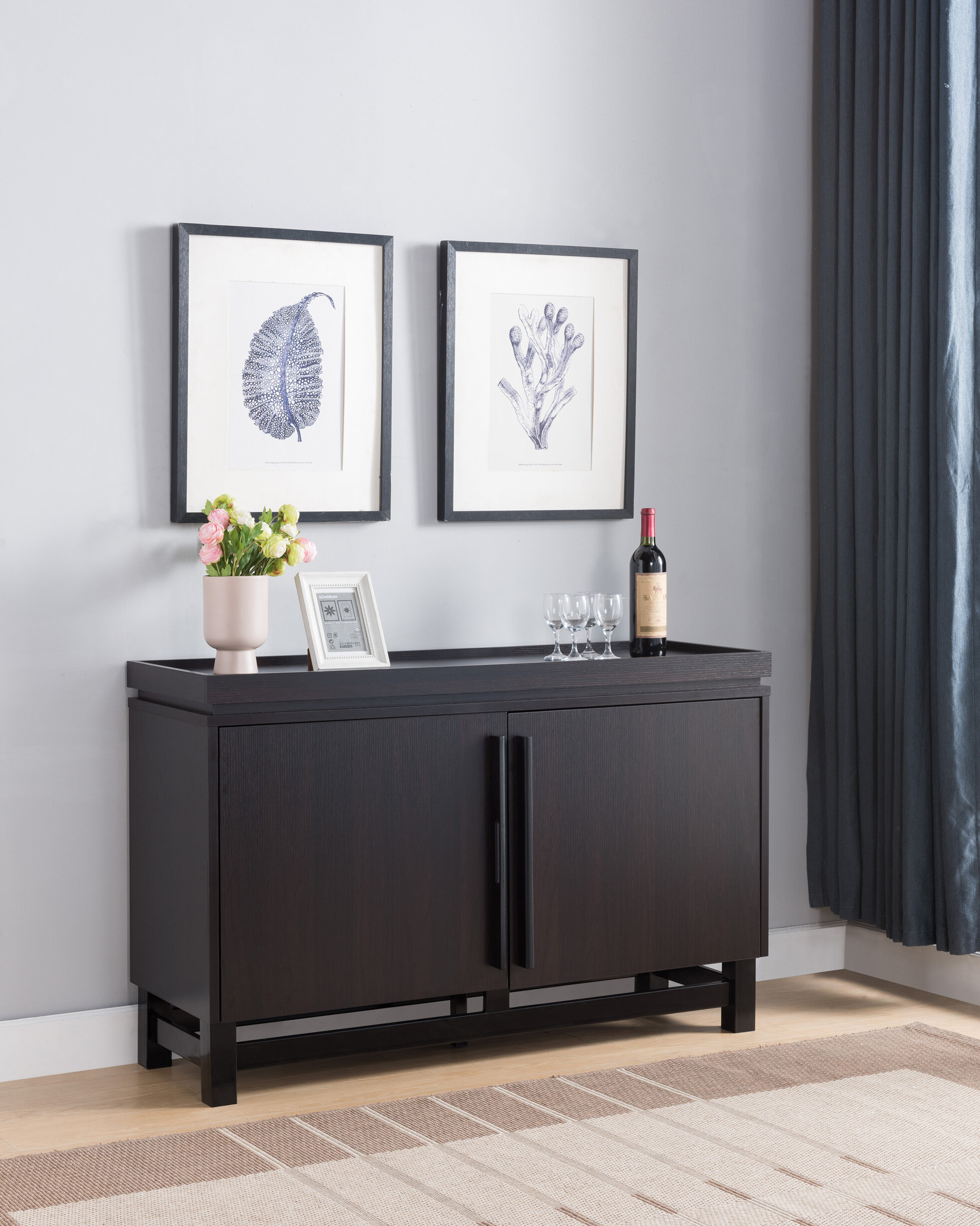 Lipscomb Modern Buffet Table With Regard To Contemporary Rolling Buffets (View 12 of 30)
