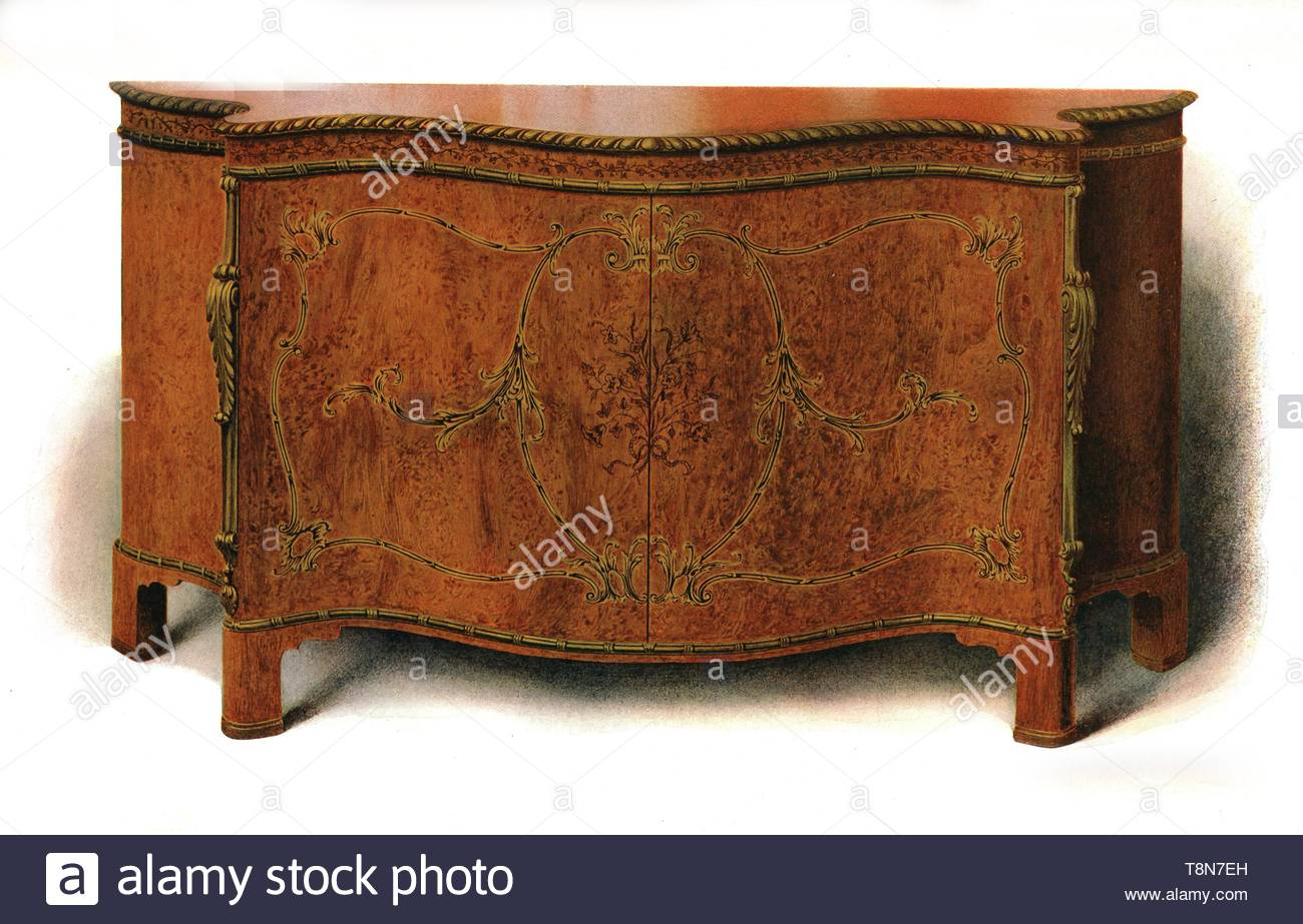 Lithograph History Of English Furniture Stock Photos Pertaining To Chalus Sideboards (View 19 of 30)