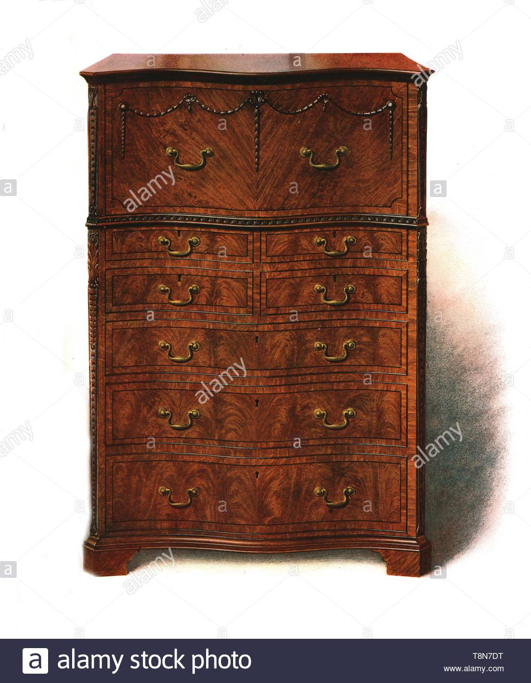 Lithograph History Of English Furniture Stock Photos Throughout Chalus Sideboards (View 20 of 30)