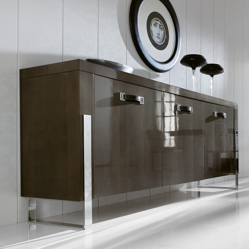 London Collection Contemporary Sideboard Buffet Within Contemporary Black Buffets (View 17 of 30)