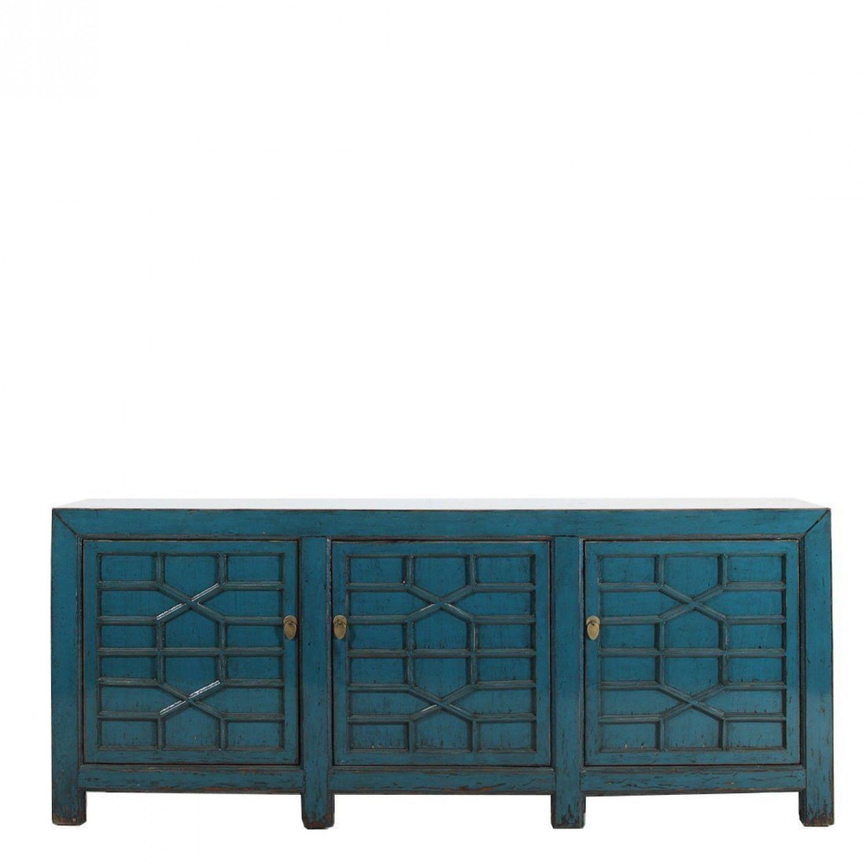 Long 3 Door Pagoda Sideboard | Cabinet | Dining Room Dresser Inside Candace Door Credenzas (View 20 of 30)