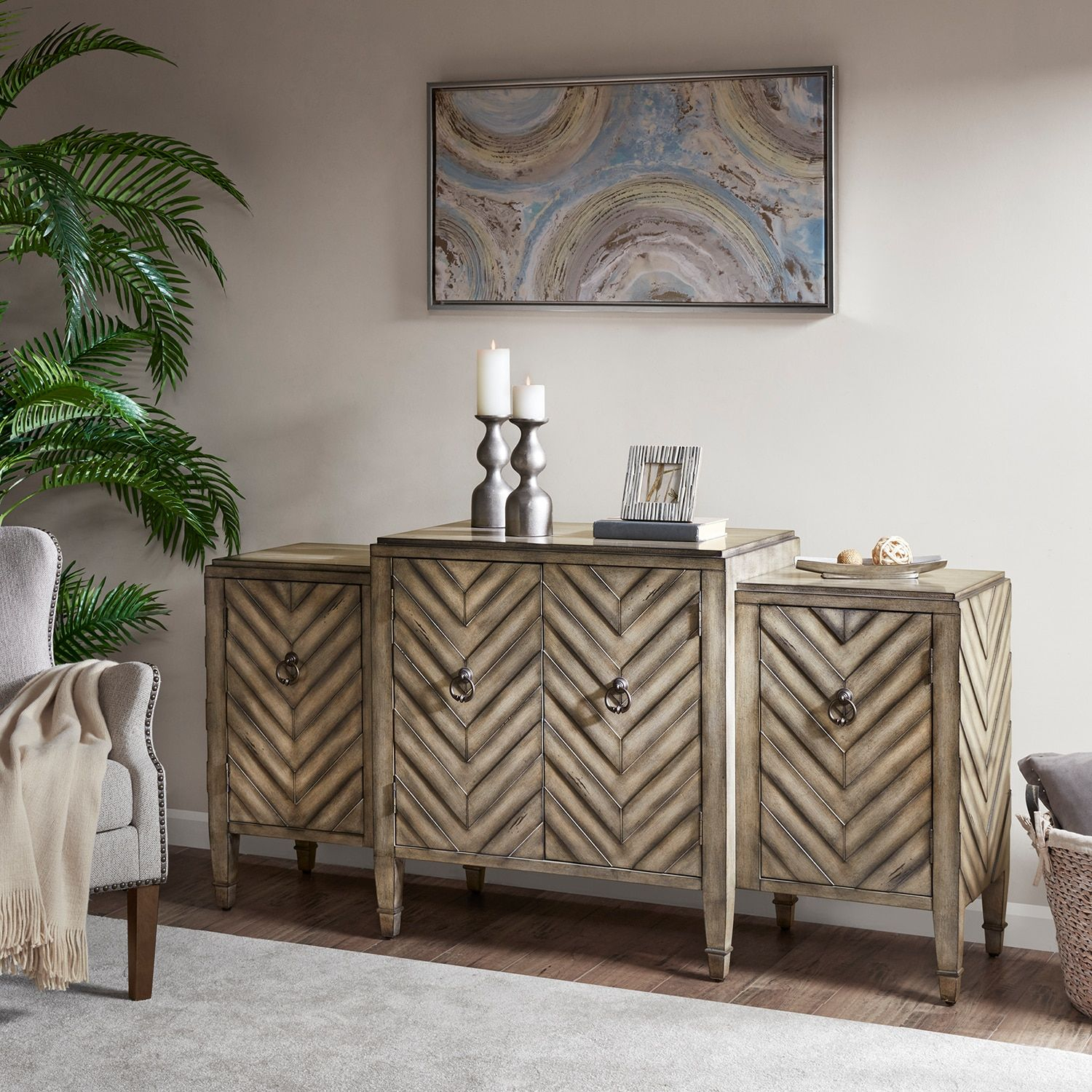 Madison Park Egan Sideboard Storage Cabinet In 2019 With Regard To Armelle Sideboards (Image 16 of 30)
