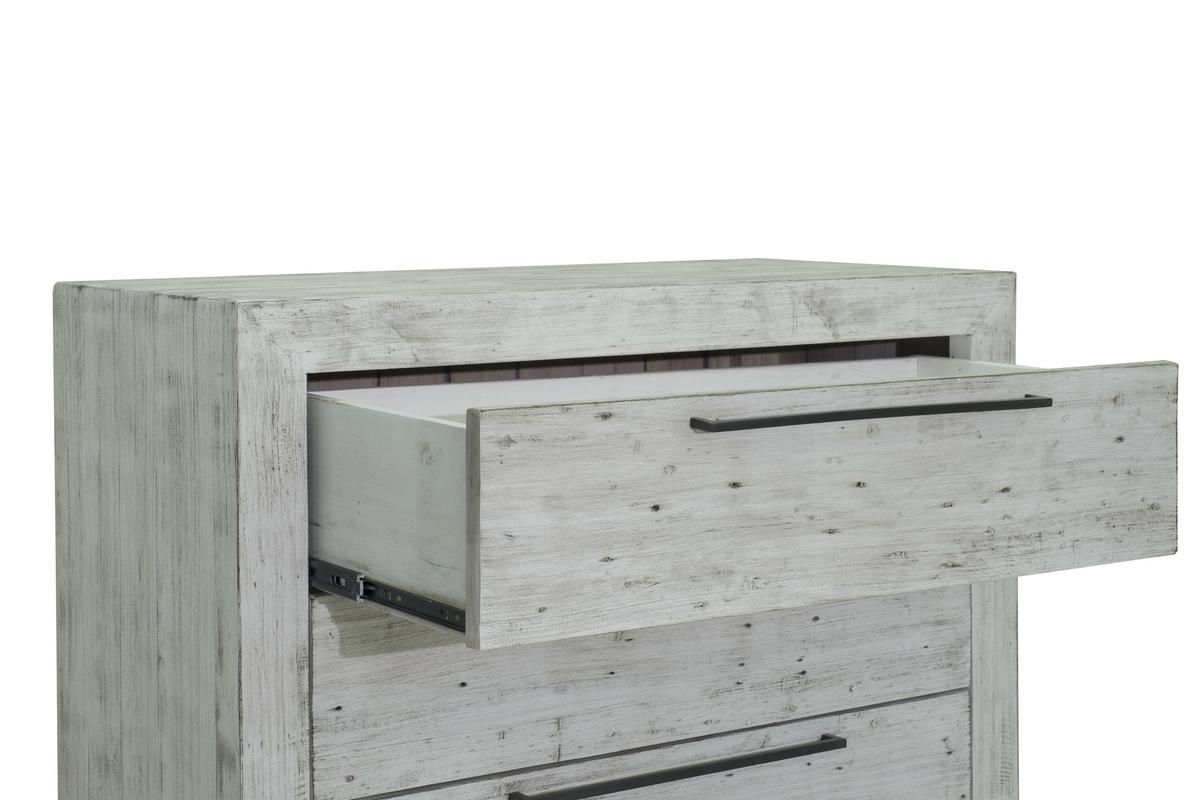 Malibu 4 Drawer Chest – Rustic White | Malibu Rustic White Pertaining To Malibu 2 Door 4 Drawer Sideboards (View 12 of 30)