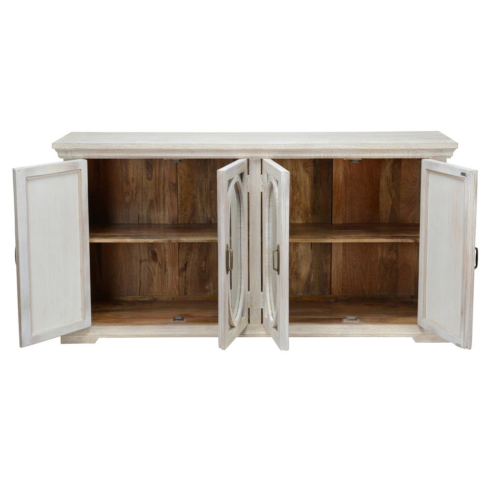 Manchester Wood Mirrored 70-Inch Sideboardkosas Home regarding Papadopoulos Sideboards (Image 18 of 30)