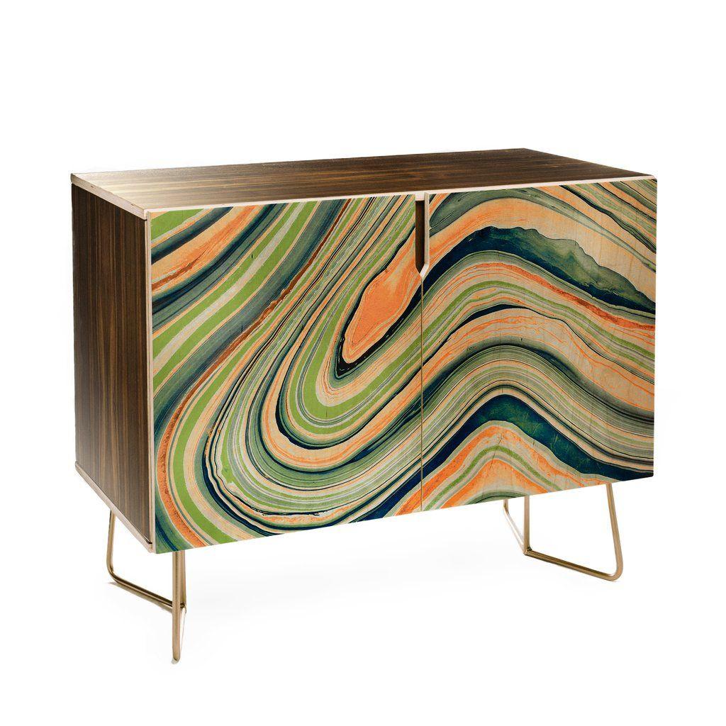Marta Barragan Camarasa Watercolor Marble Waves Credenza Within Strokes And Waves Credenzas (View 18 of 30)