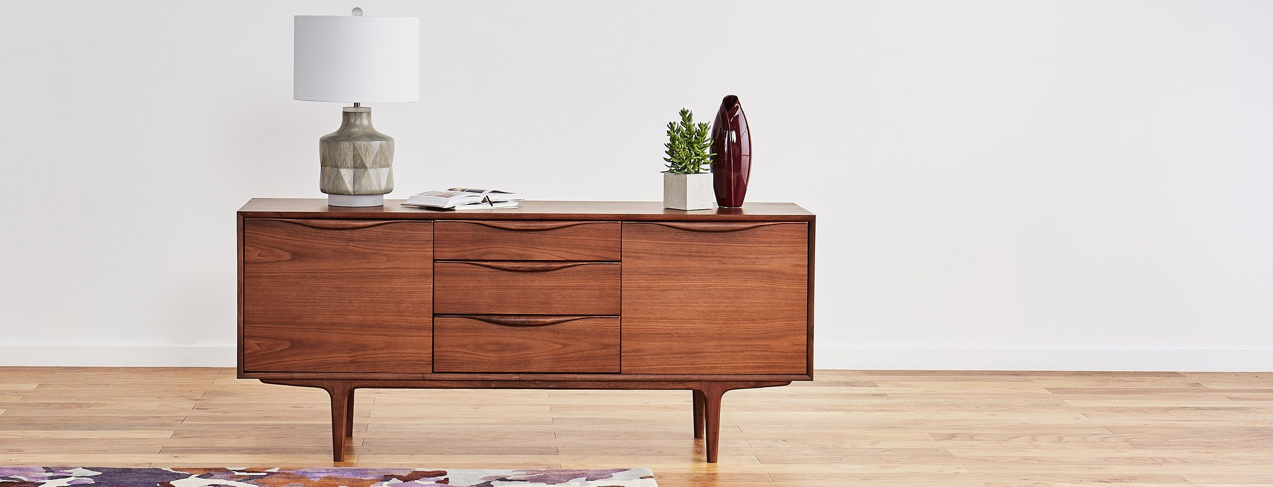 Mckenzie 3 Drawer Console In 2019 | Home | Drawers With Contemporary Wooden Buffets With Four Open Compartments And Metal Tapered Legs (View 17 of 30)