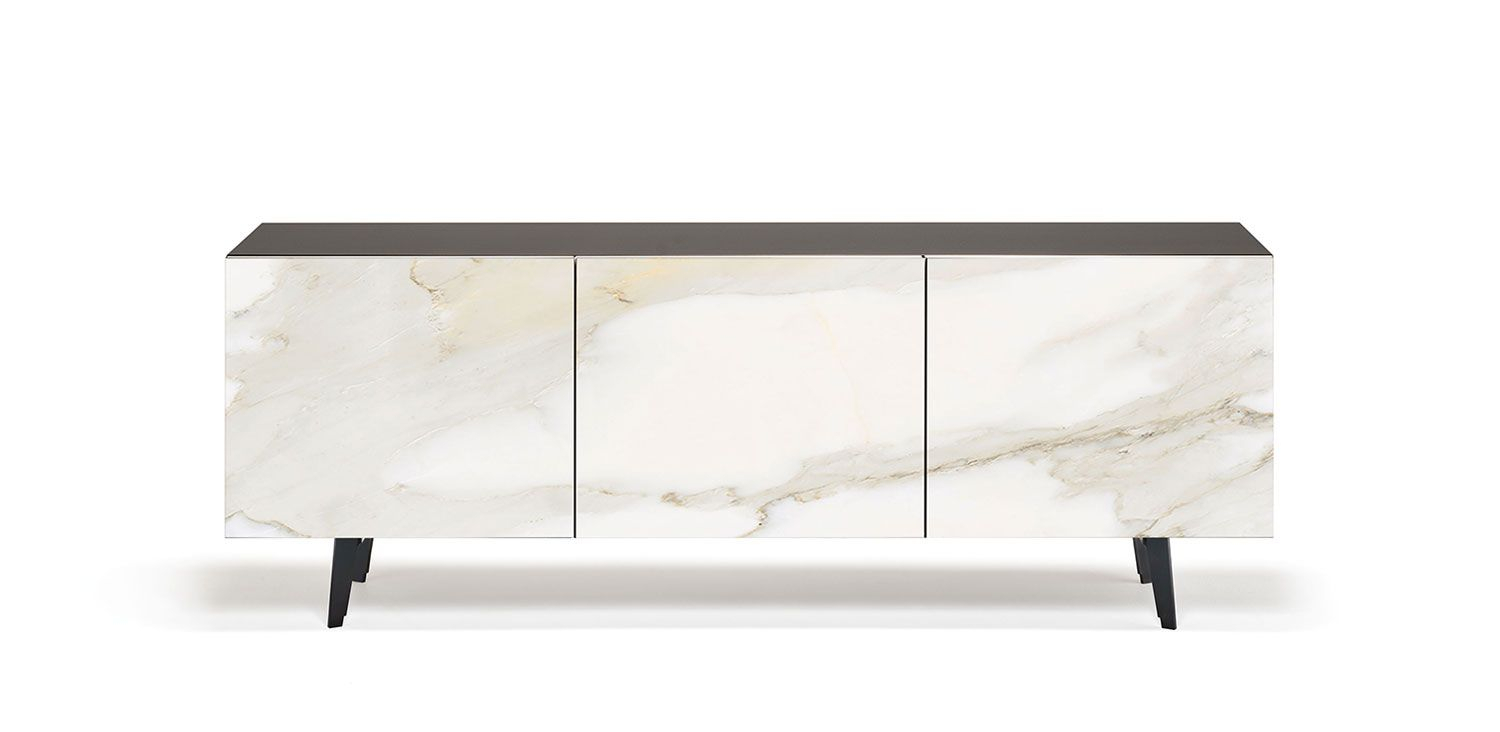 Metropol   Sideboards – Sideboard In Lacquered White (Gf71 Inside Strokes And Waves Credenzas (View 19 of 30)