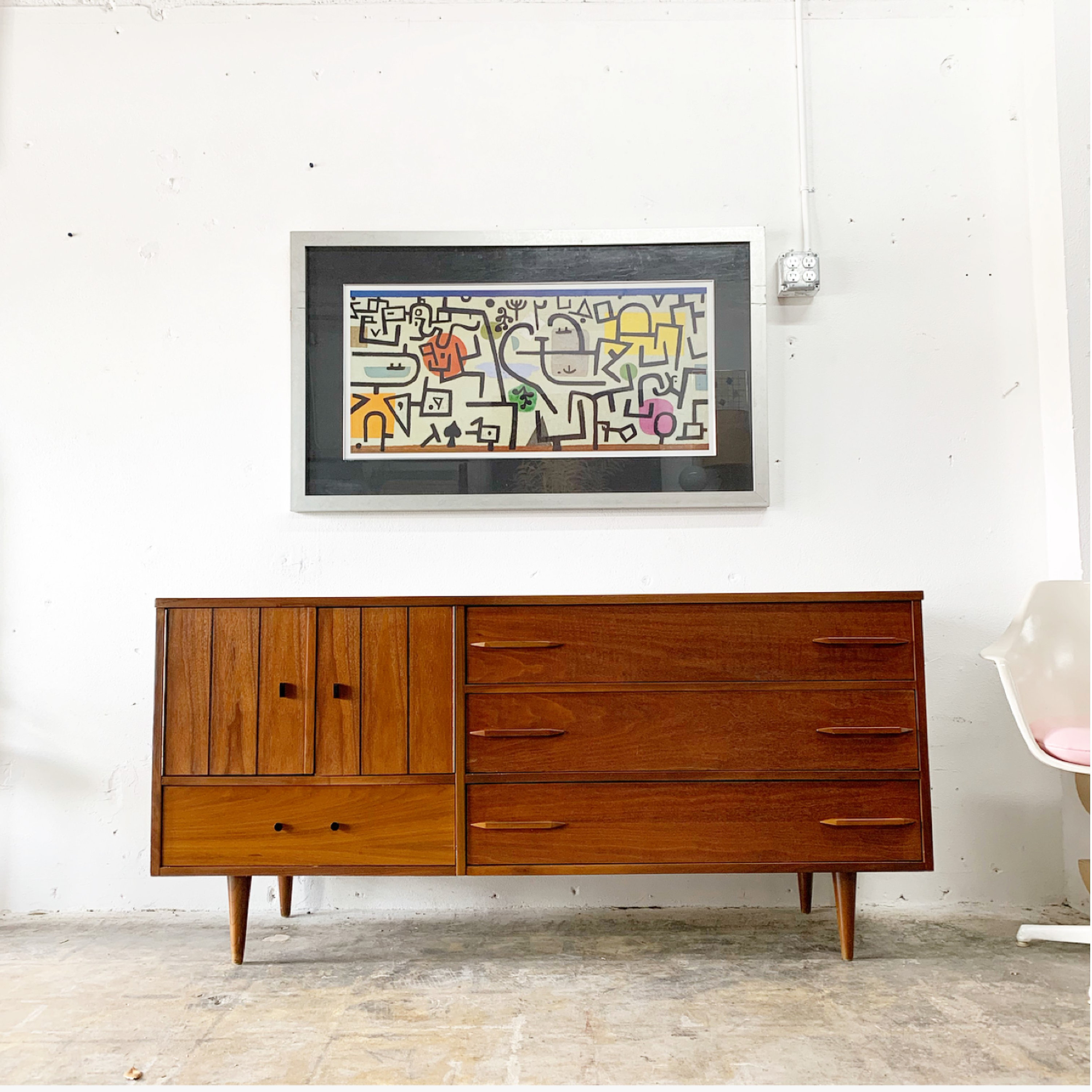 Mid Century Credenza Or Console Intended For Beach Stripes Credenzas (View 17 of 30)