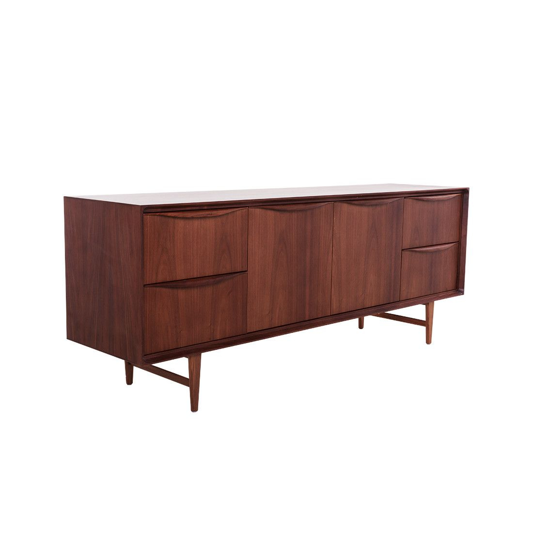 Mid Century Karon Credenza – Walnut | Credenzas, Buffets Intended For Stephen Credenzas (View 22 of 30)