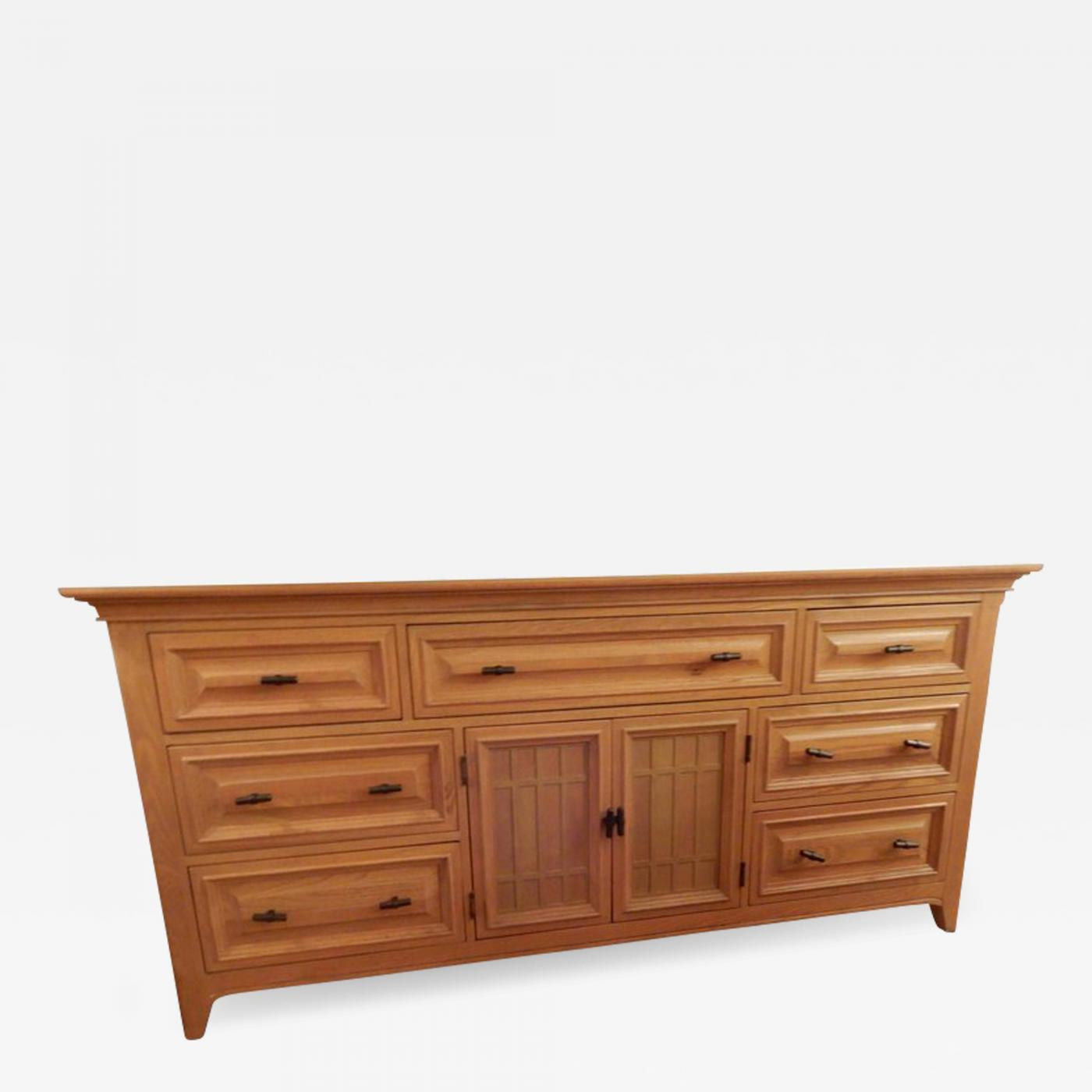 Mid Century White Oak Sideboard Buffet Credenza Server Intended For Mid Century White Buffets (View 23 of 30)