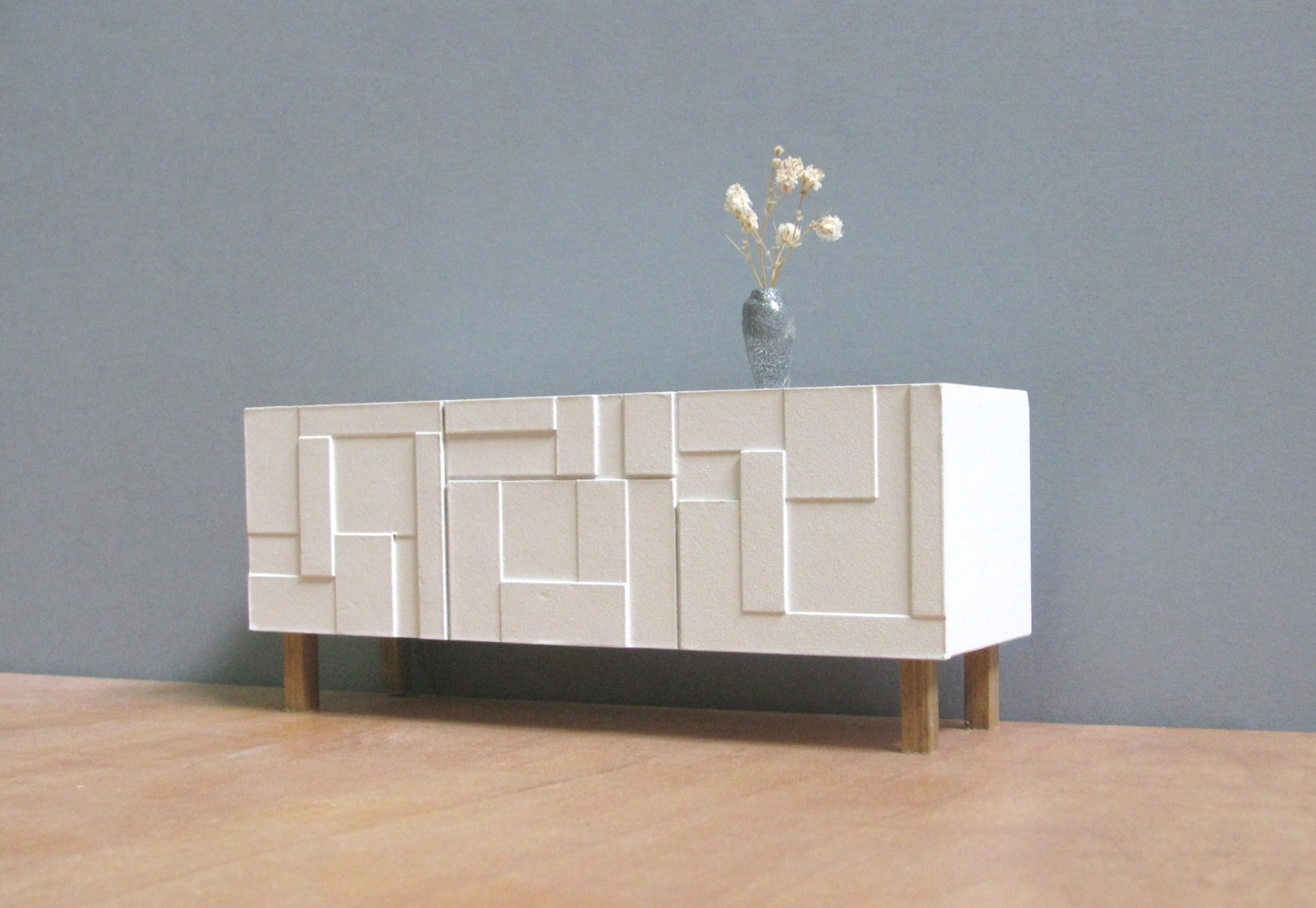 Mid Century White Sideboard Cabinet — Furniture Ideas Pertaining To Mid Century White Buffets (View 7 of 30)