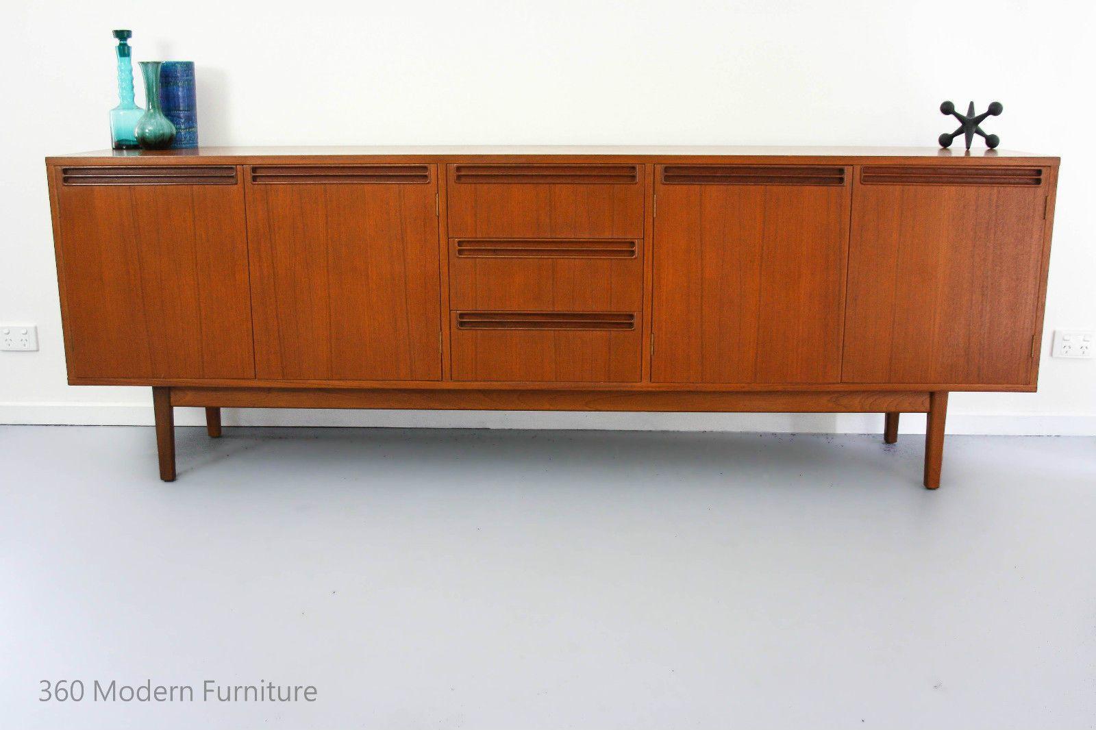 Mid Century Wrightbilt Sideboard Credenza Cabinet Buffet Inside Modern Teak Buffets (View 5 of 30)