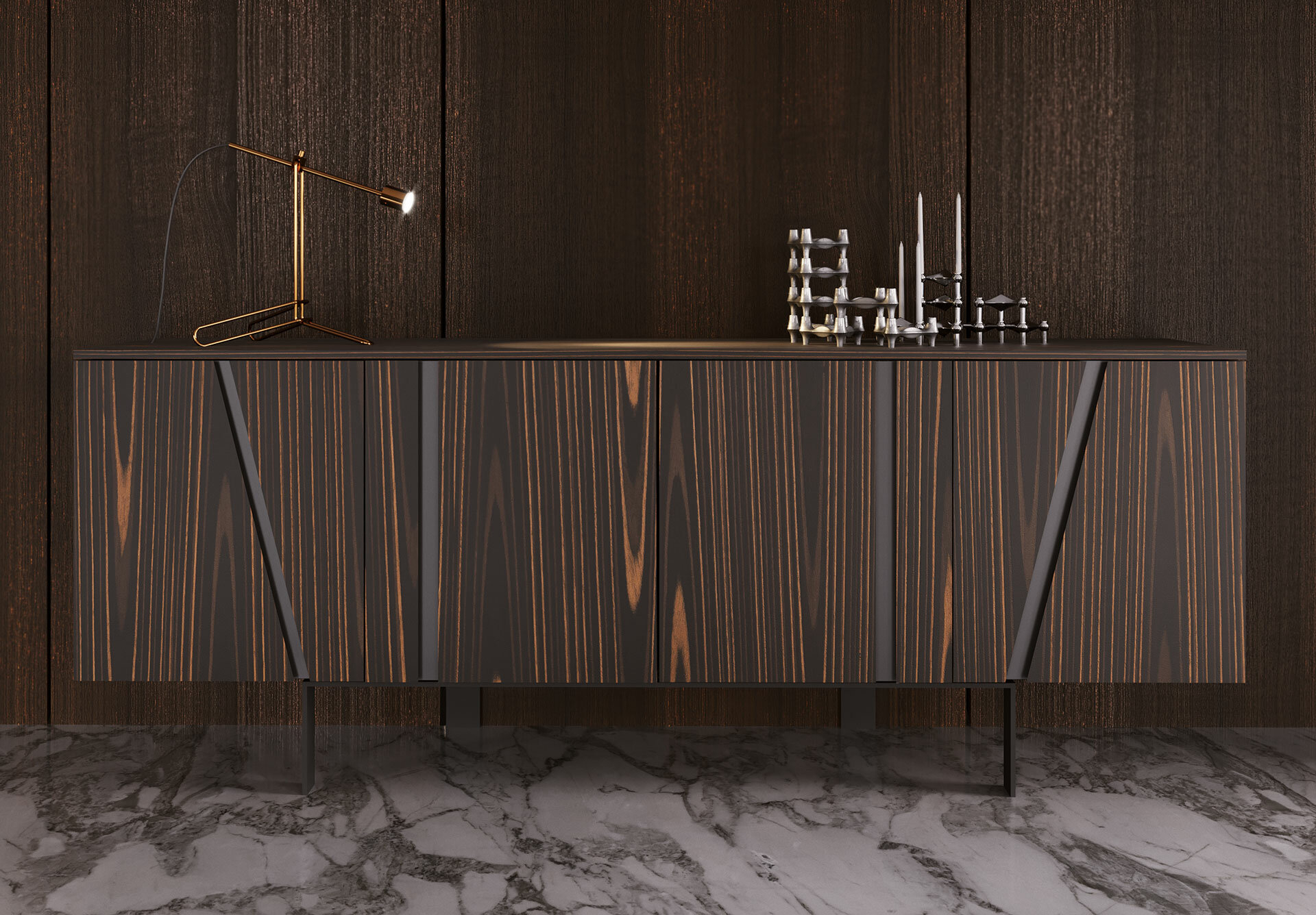 Miliano Buffet Table for Industrial Cement-Like Buffets (Image 23 of 30)