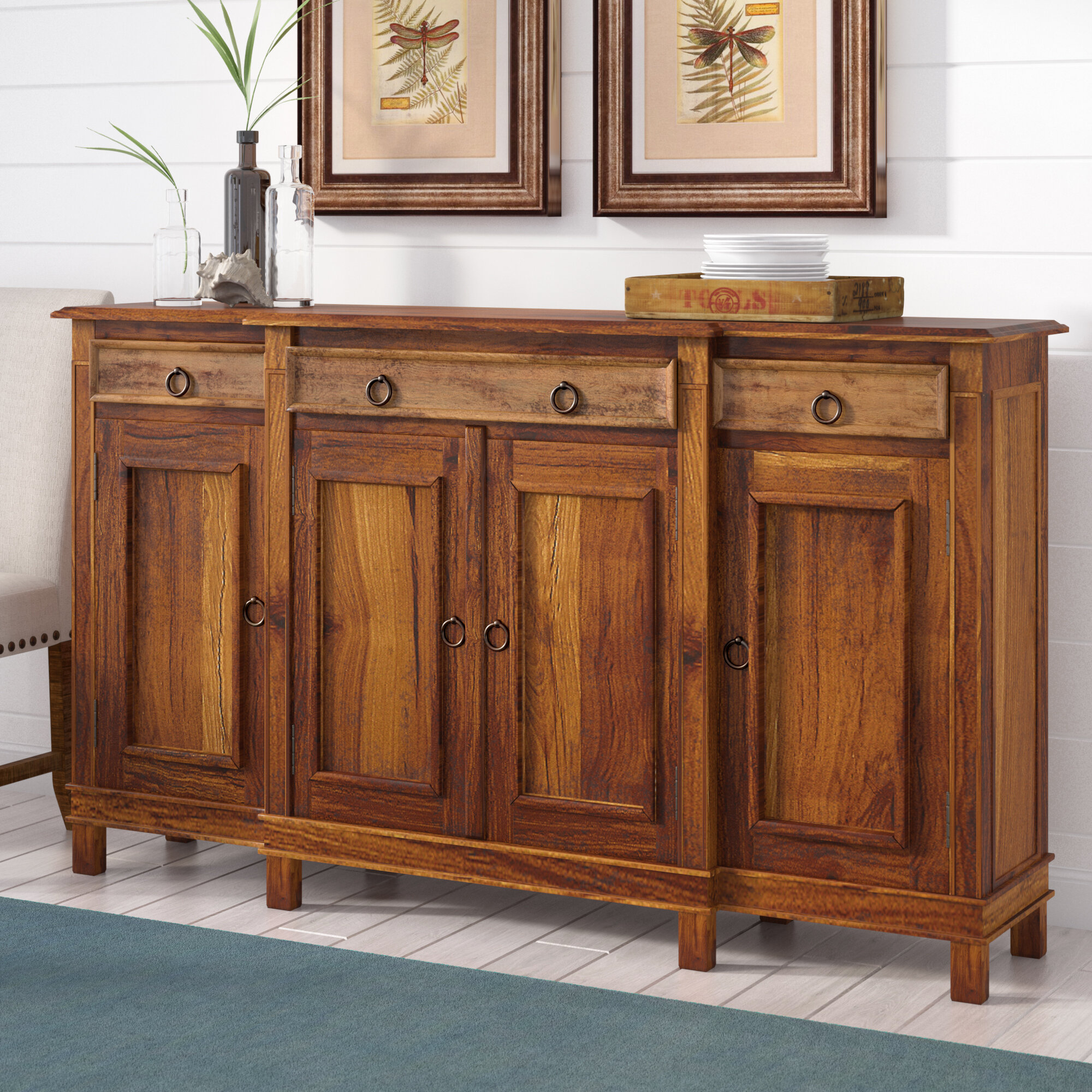 Minneola Cottage Wood Buffet Table pertaining to Ilyan Traditional Wood Sideboards (Image 22 of 30)