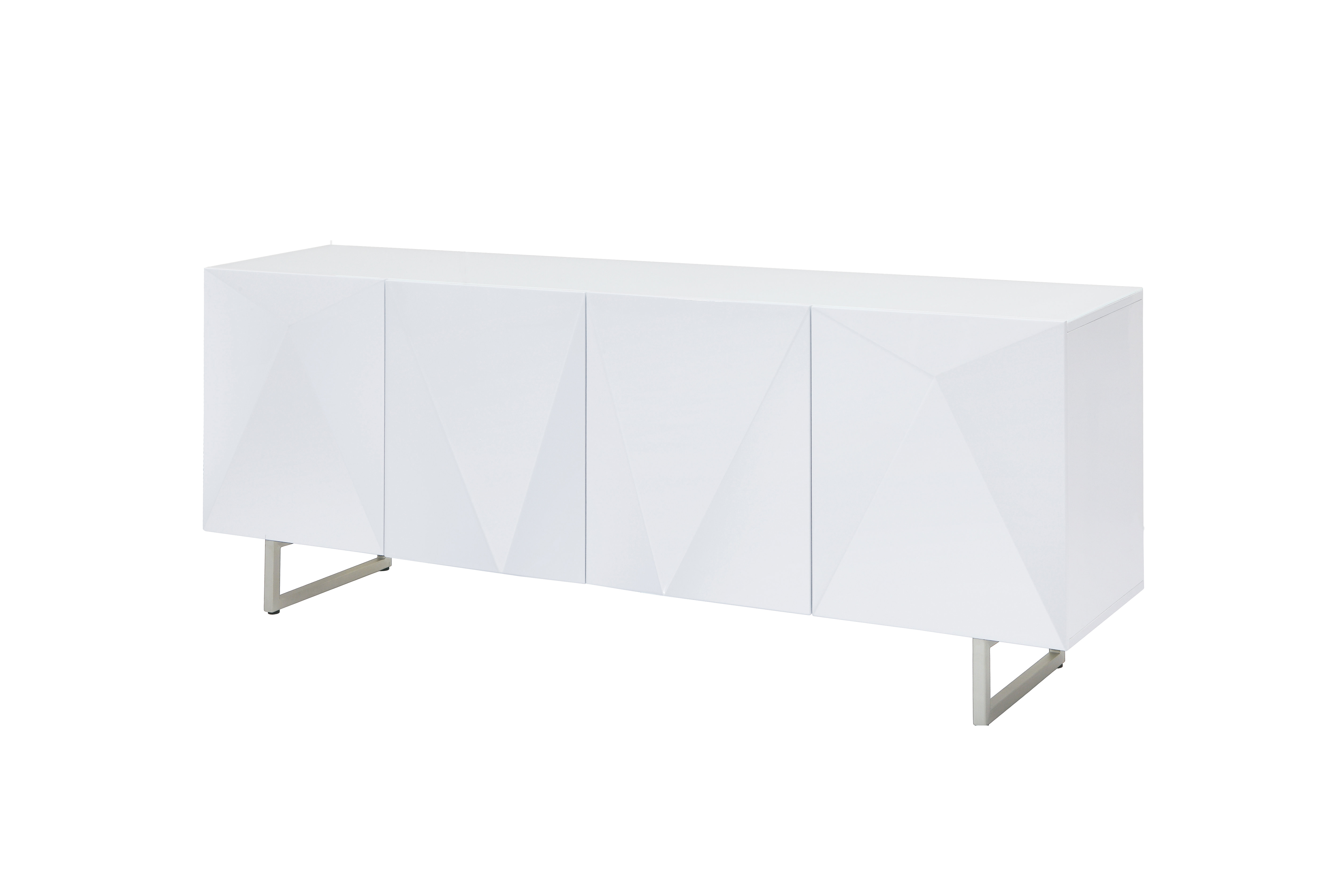 Modern & Contemporary High Gloss White Buffet | Allmodern In Mid Century Modern Glossy White Buffets (View 10 of 30)