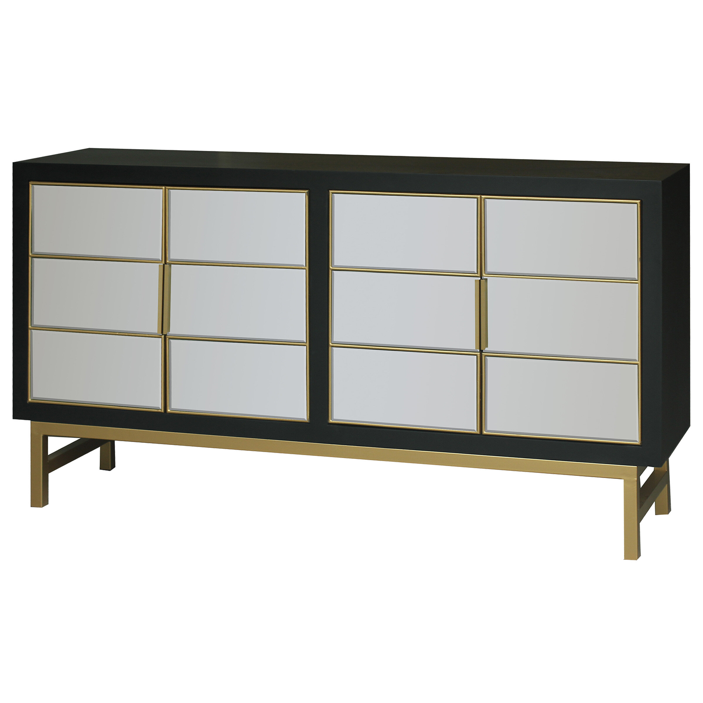 Modern & Contemporary Kieth 4 Door Credenza | Allmodern intended for Senda Credenzas (Image 22 of 30)