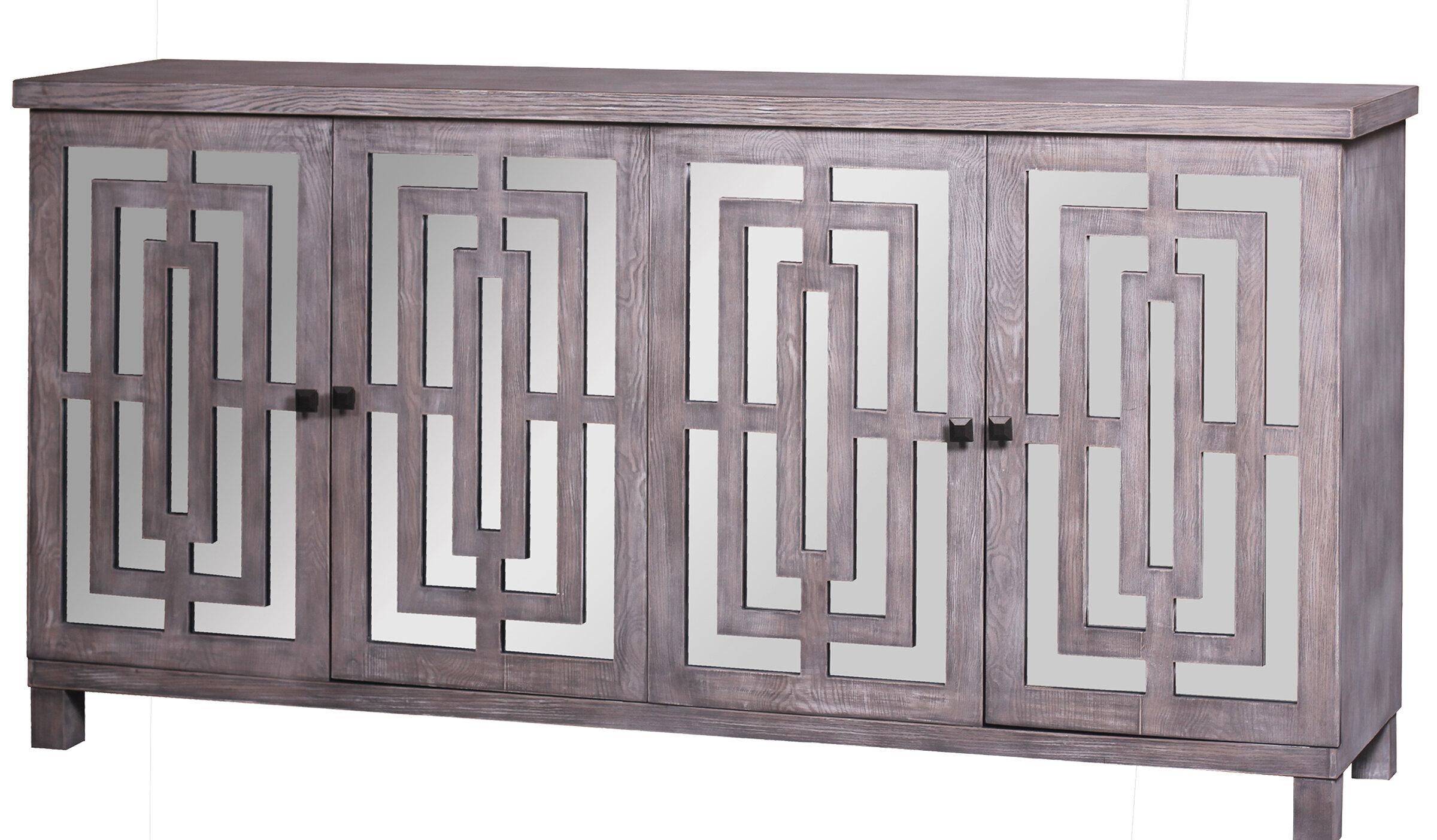 Modern & Contemporary Kieth 4 Door Credenza   Allmodern Regarding Kattie 4 Door Cabinets (View 14 of 30)