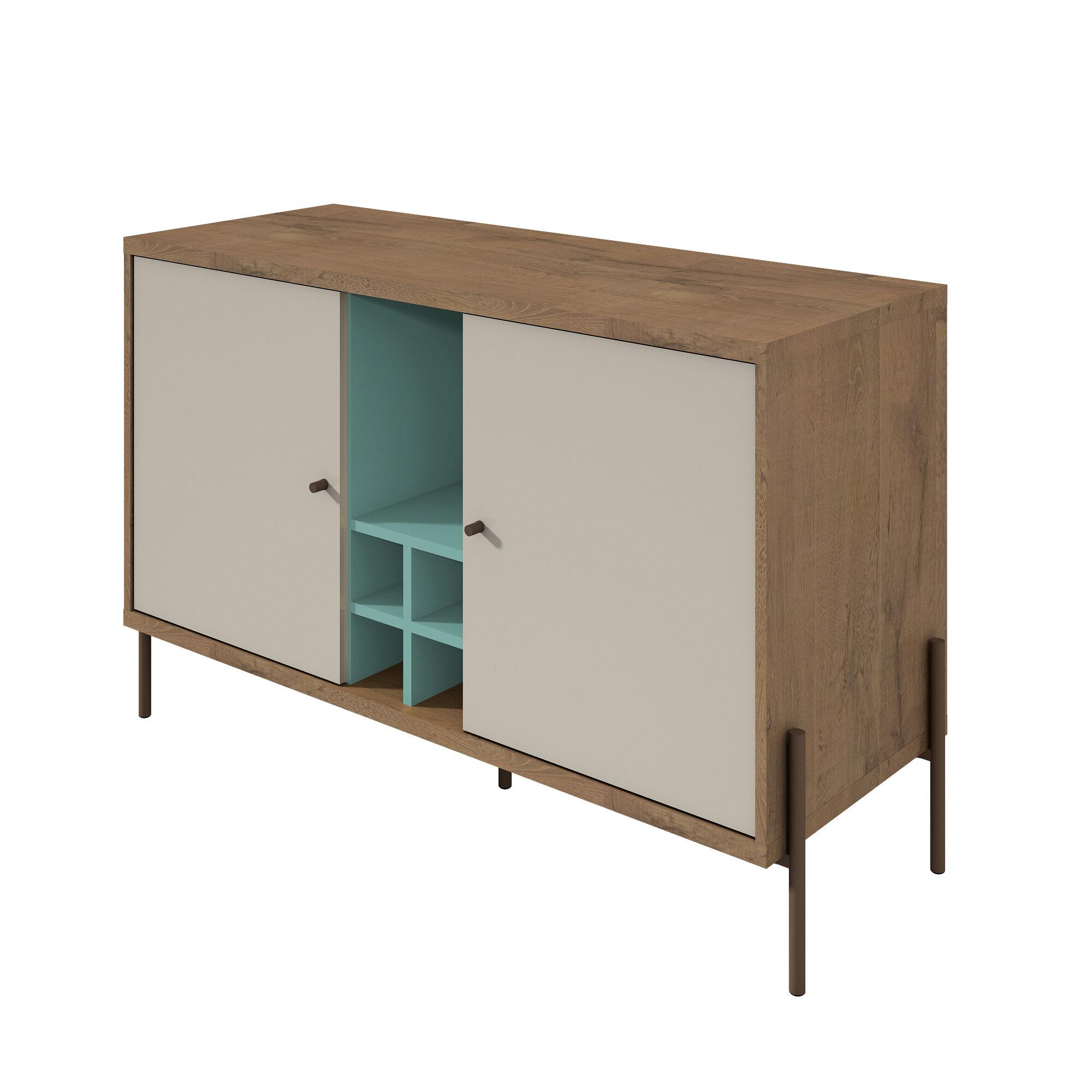 Modern & Contemporary Kieth 4 Door Credenza | Allmodern Within Kieth 4 Door Credenzas (View 13 of 30)