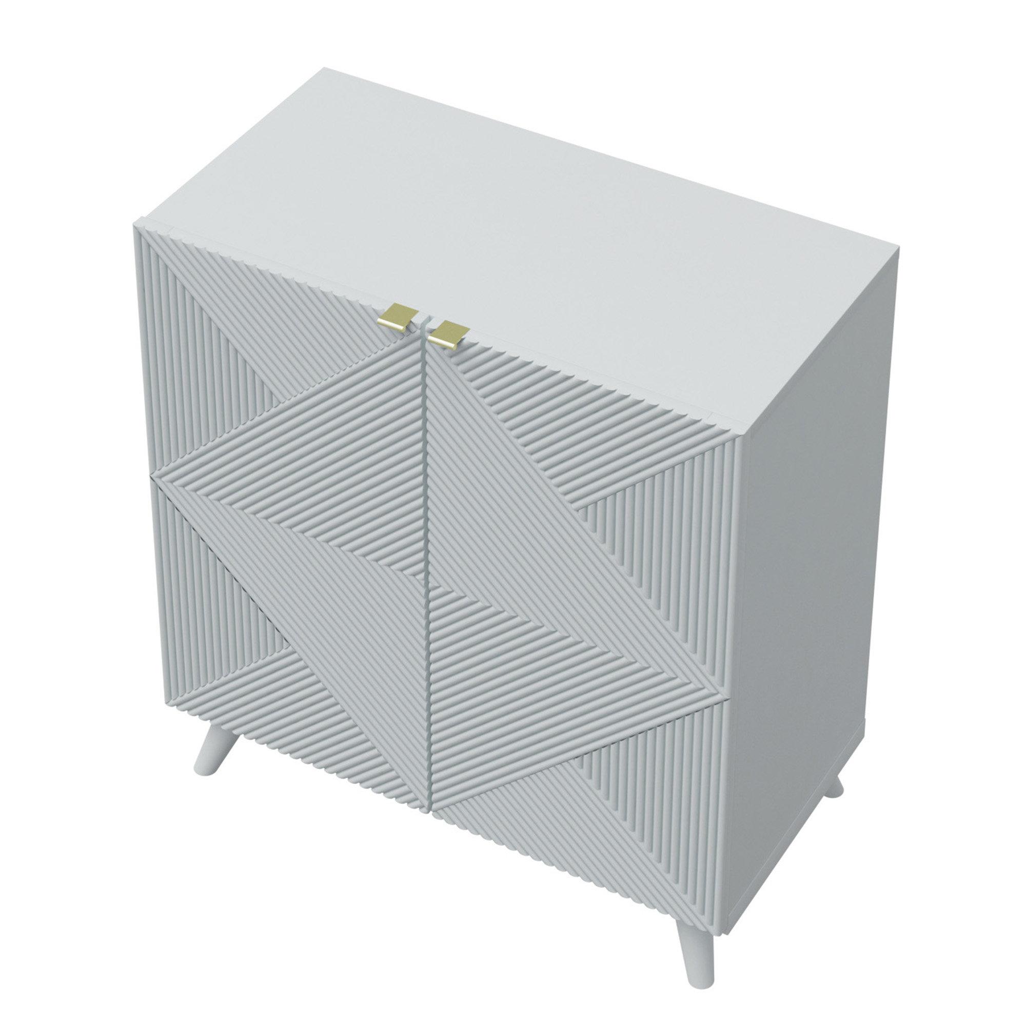 Modern & Contemporary Tall Side Cabinets   Allmodern Regarding Kattie 4 Door Cabinets (View 23 of 30)