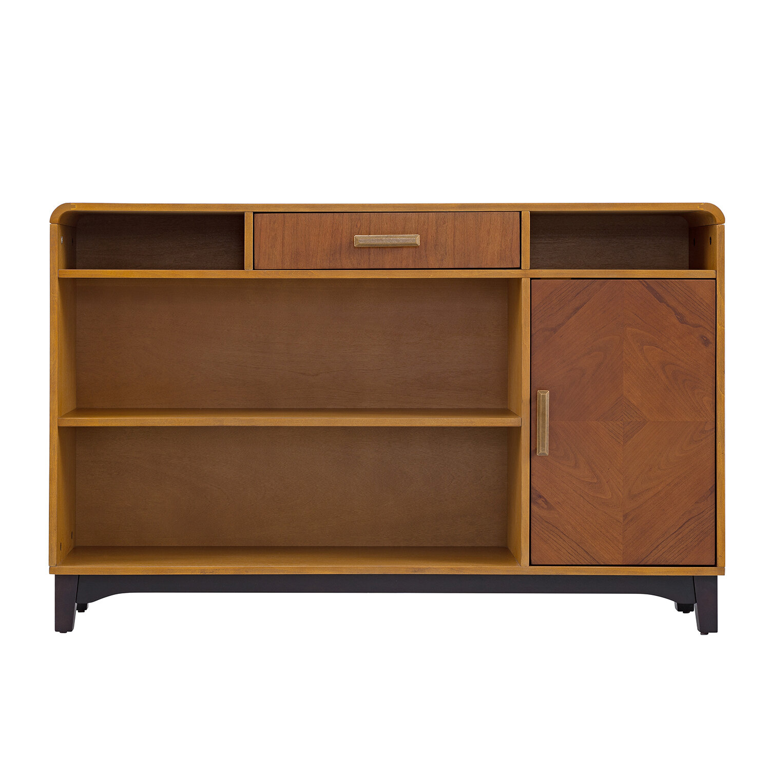 Modern & Contemporary Wood Veneer Storage Credenza | Allmodern With Wooden Deconstruction Credenzas (View 21 of 30)