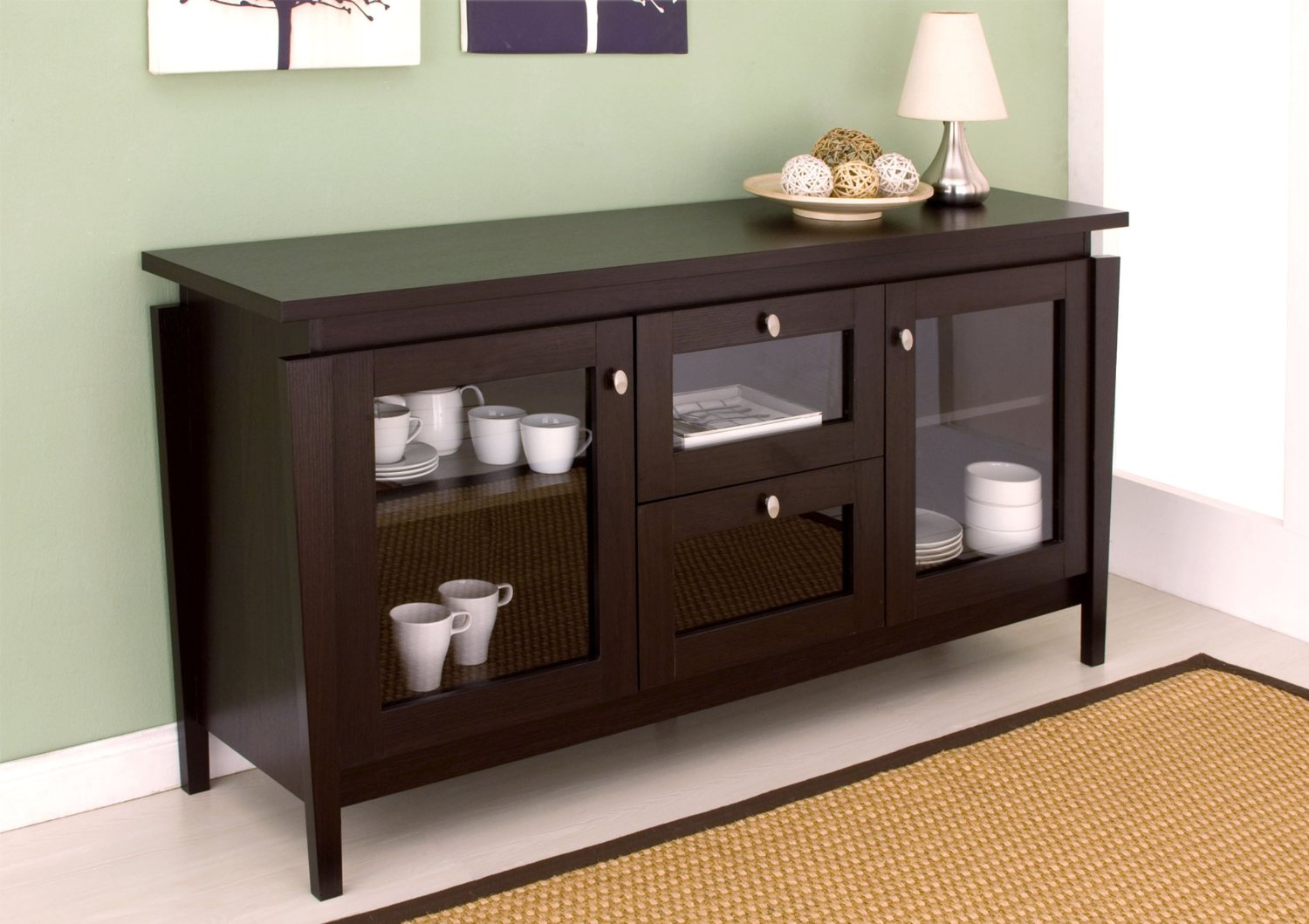 Modern Dining Room Buffet Cabinet — All Furniture : Dining With Contemporary Espresso Dining Buffets (View 25 of 30)