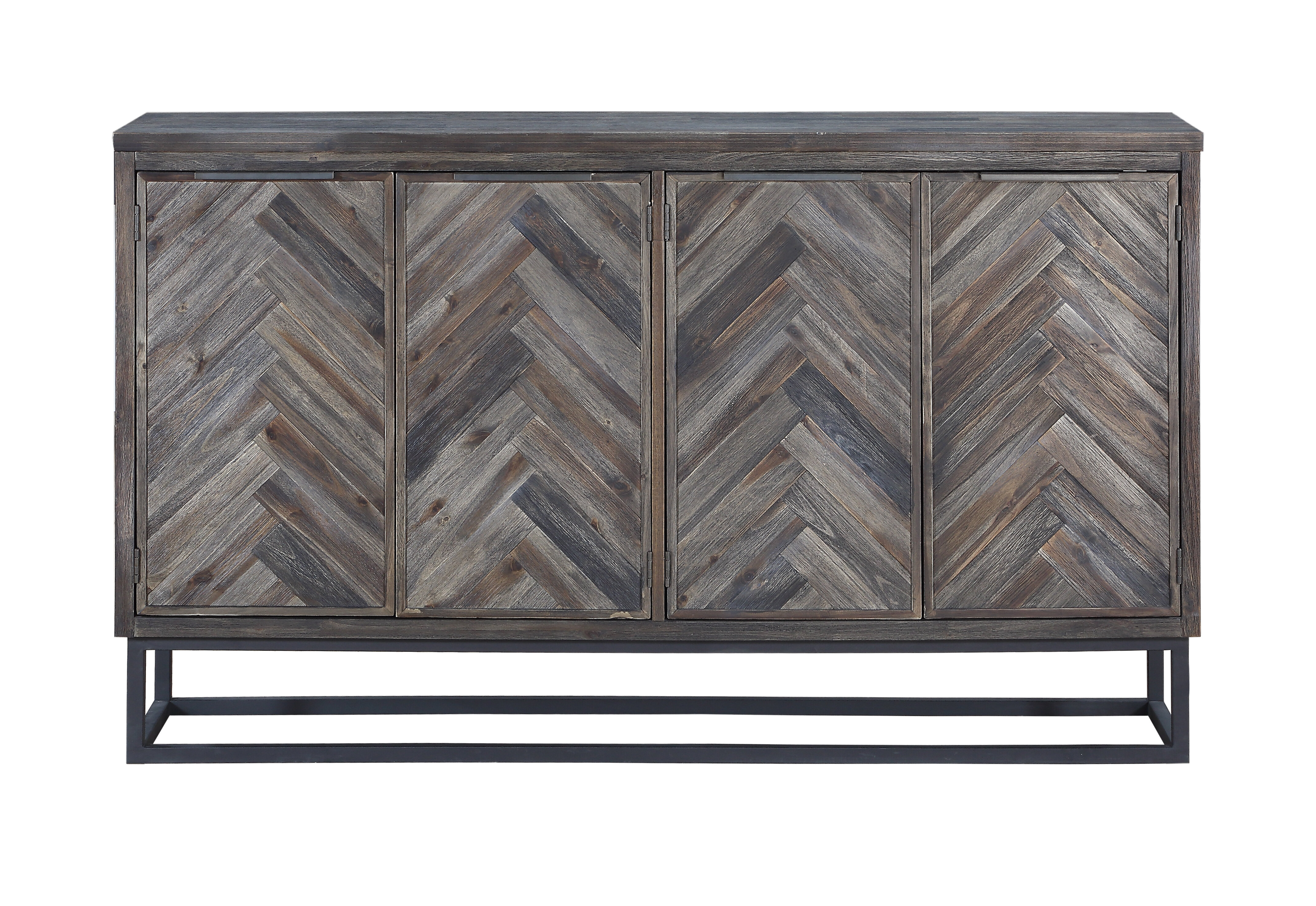 Modern Metal Sideboards + Buffets | Allmodern Pertaining To Contemporary Three Tier Glass Buffets With Black Metal Frame (View 19 of 30)