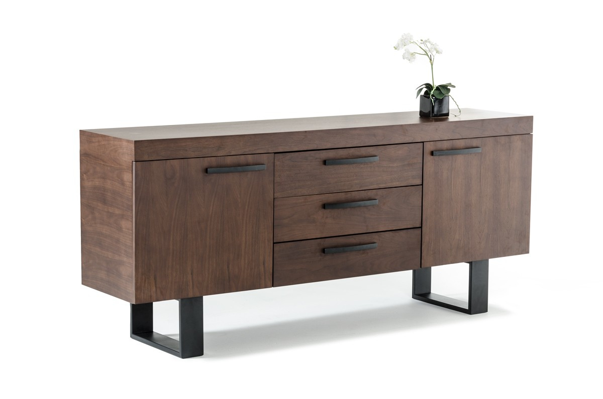 Modrest Lola Modern Walnut Buffet – Buffets – Dining Intended For Contemporary Black Dining Buffets (View 16 of 30)