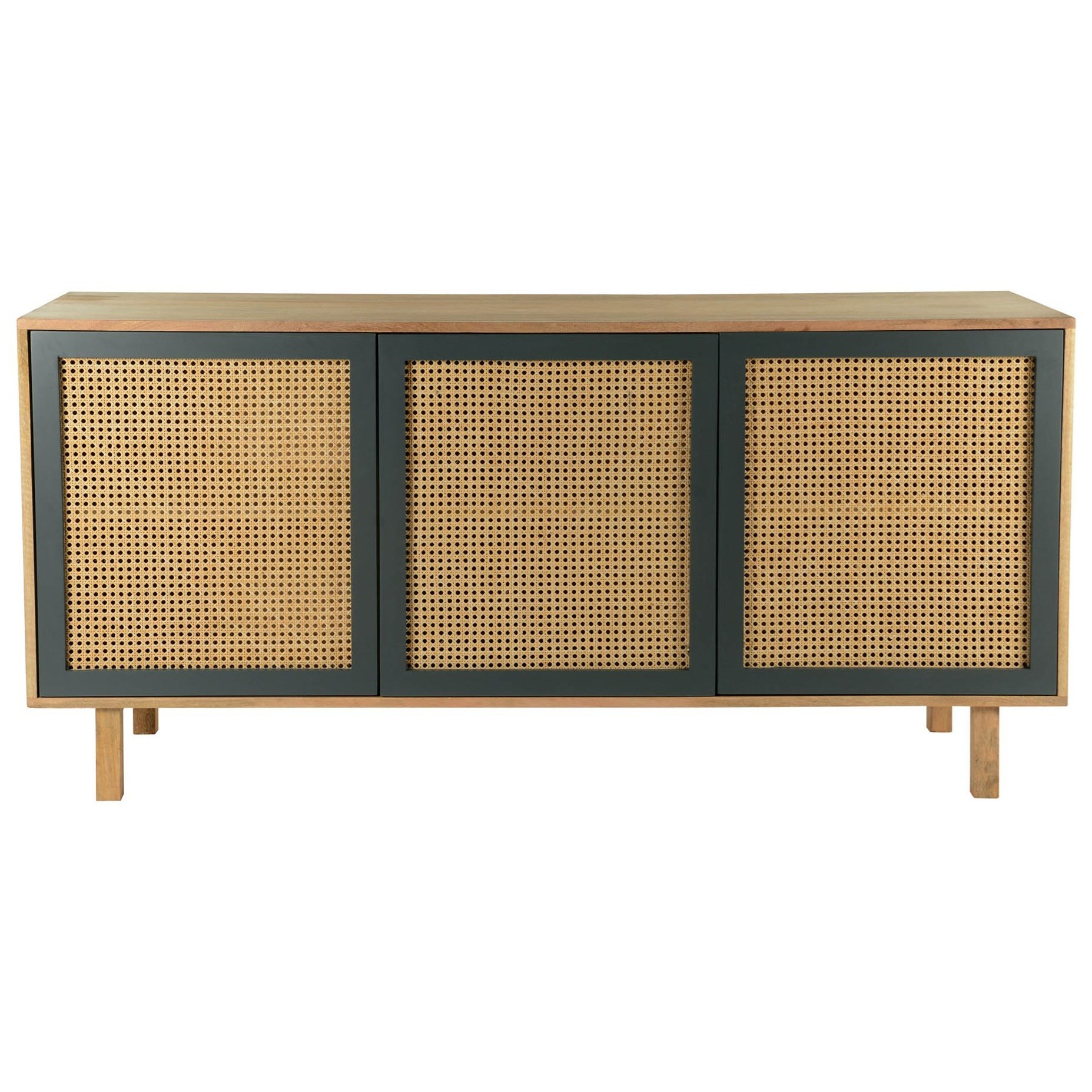 Moe's Home Collection Ashton Woven Cane Sideboard With 3 Inside Solid Wood Contemporary Sideboards Buffets (View 14 of 30)
