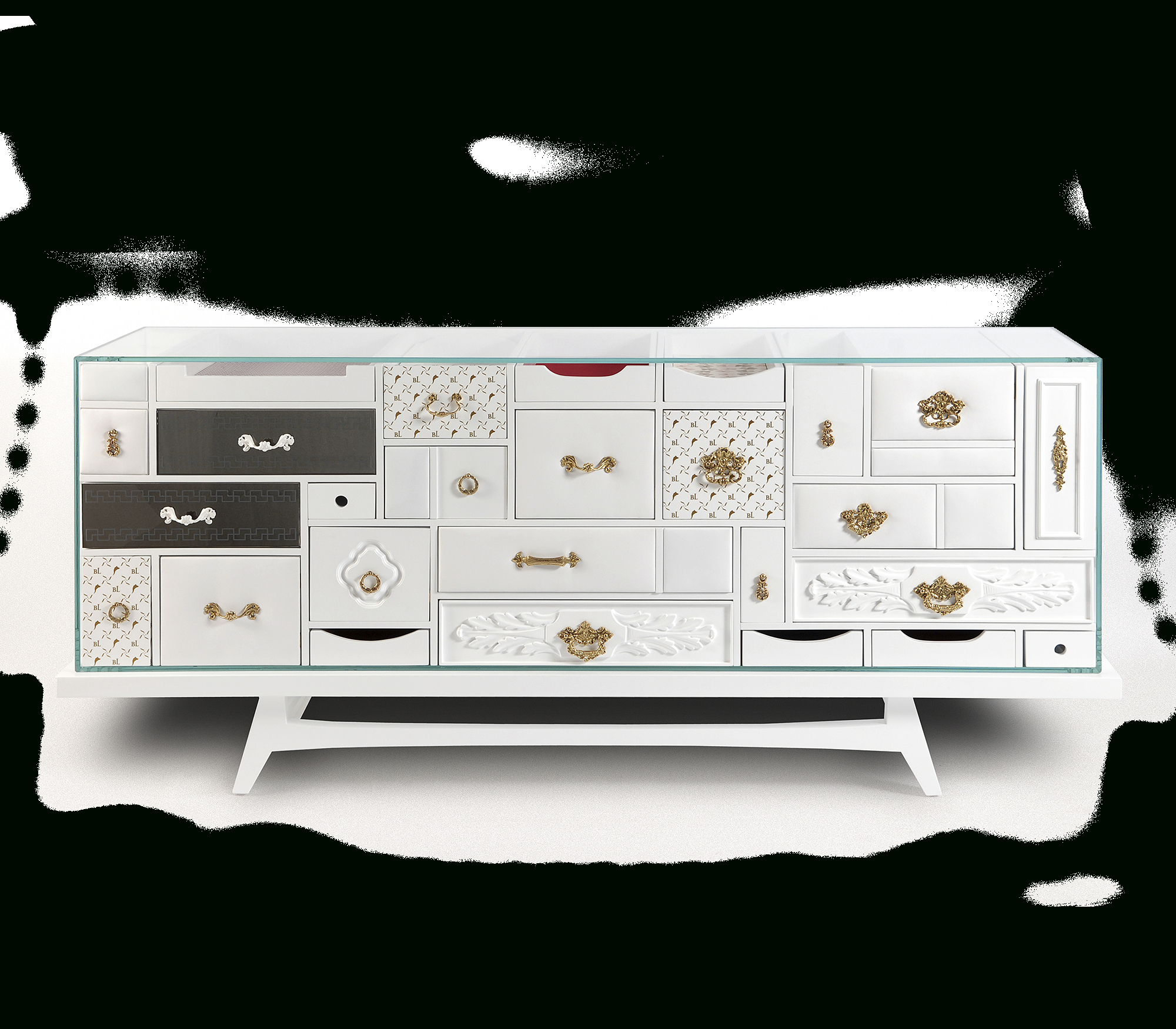Mondrian White Sideboard | Boca Do Lobo Exclusive Design throughout Thite Sideboards (Image 20 of 30)