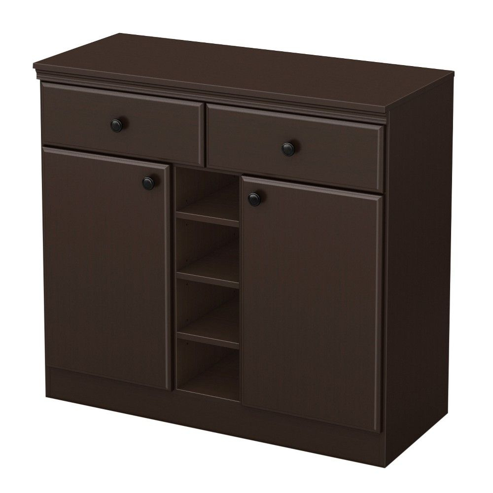 Morgan Sideboard – Chocolate (Brown) – South Shore Intended For Caines Credenzas (View 24 of 30)