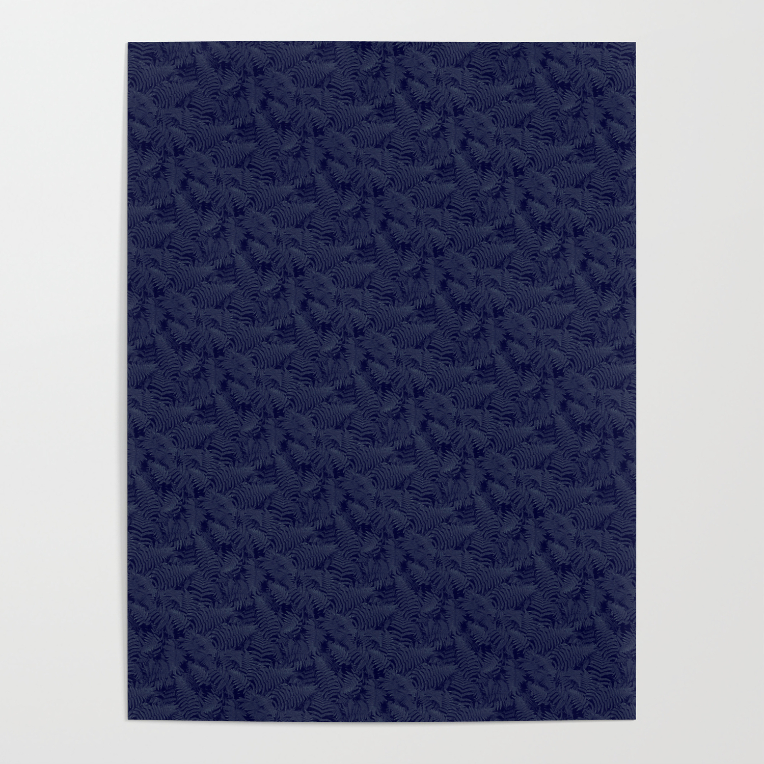 Muted '90S Fern Background Grid At Dusk – Deep Blue Posterwilliambottini in Deep Blue Fern Credenzas (Image 25 of 30)