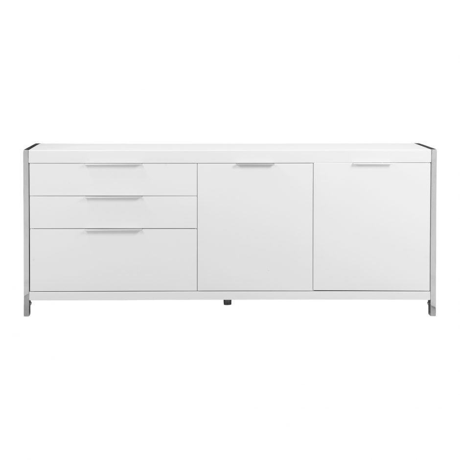Neo Sideboard White | Products | Moe's inside Thite Sideboards (Image 21 of 30)