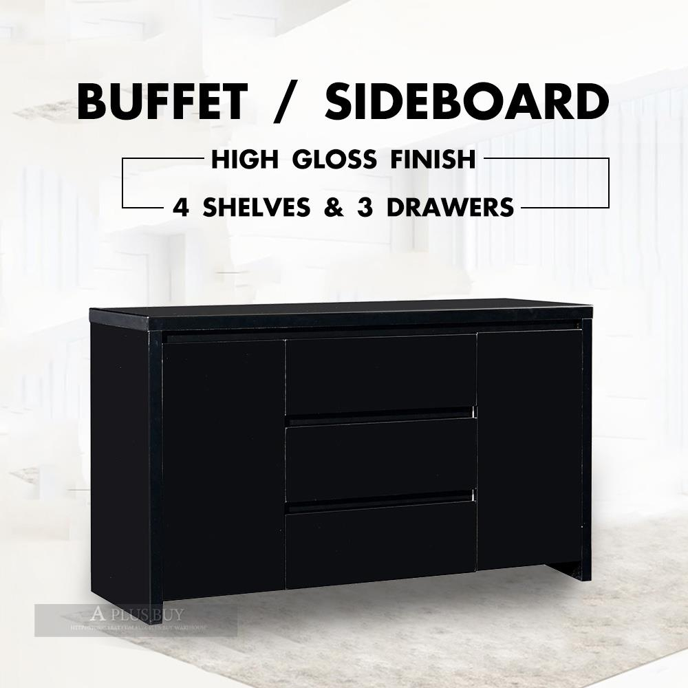 Featured Photo of 3 Drawer Black Storage Buffets