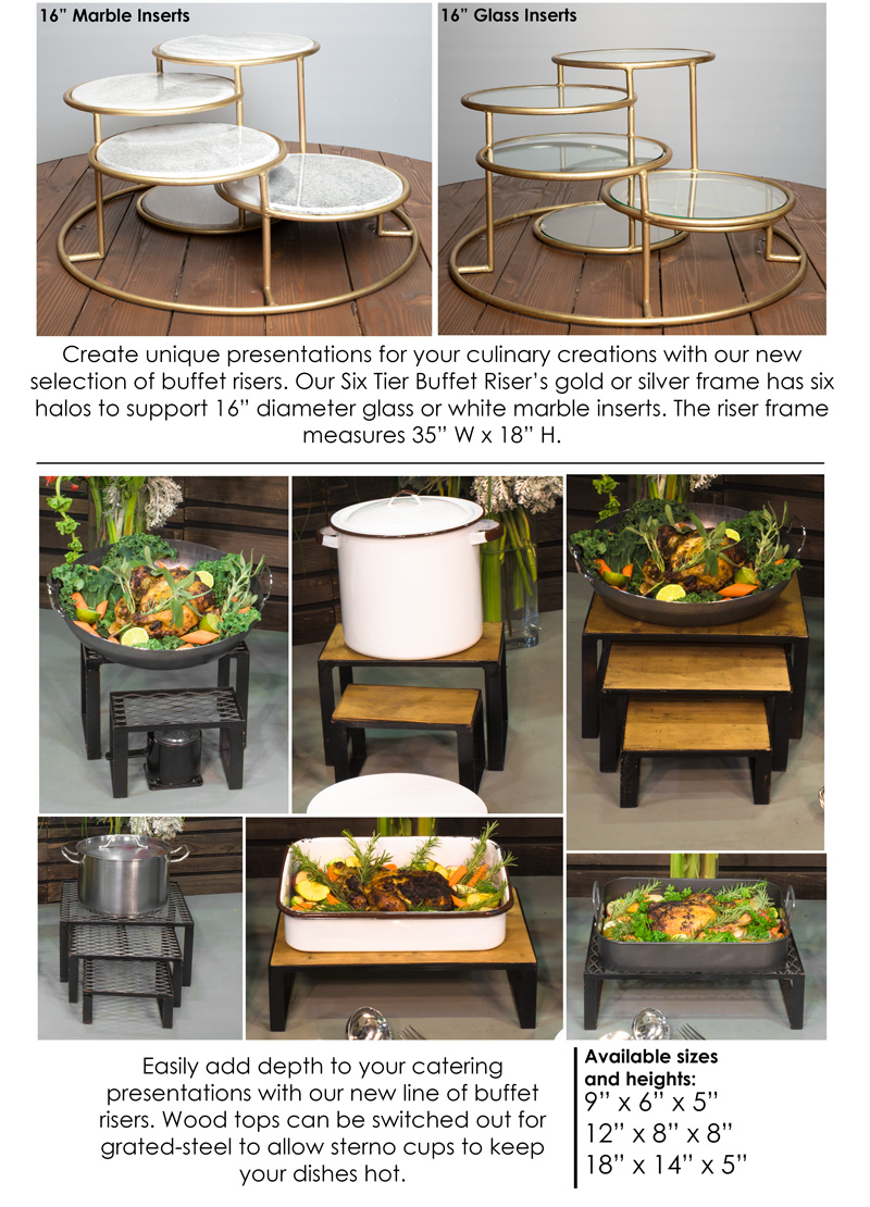 New Buffet Risers | Town & Country Event Rentals Regarding Contemporary Rolling Buffets (View 26 of 30)