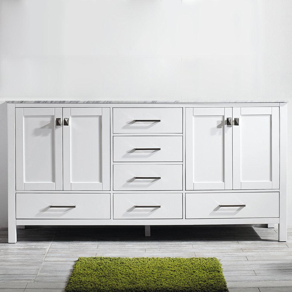 """Newtown 72"""" Double Bathroom Vanity Set regarding Arminta Wood Sideboards (Image 19 of 30)"""