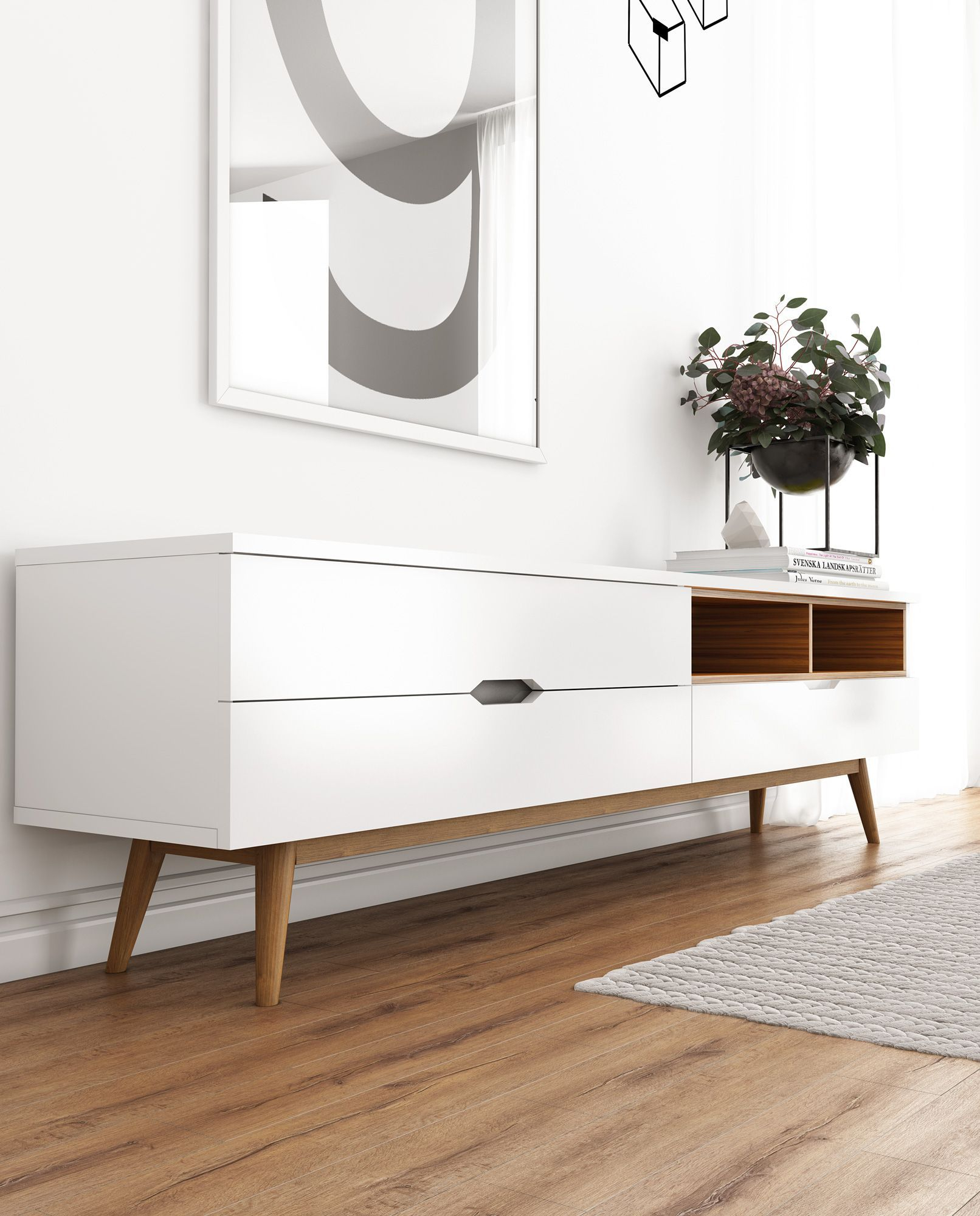 Nilsson Tv Stand | Rove Concepts Rove Concepts Mid Century Inside Mid Century Modern Glossy White Buffets (View 16 of 30)